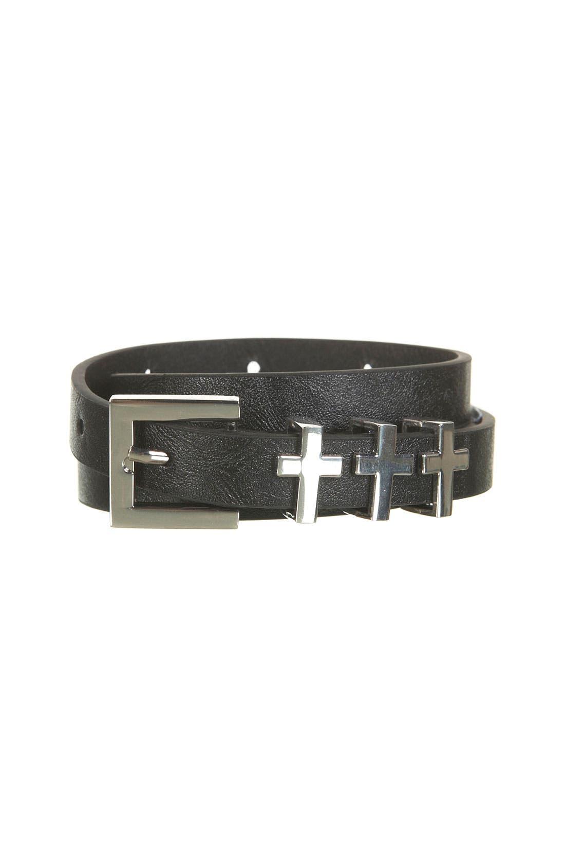 Alternate Image 2  - Topshop 'Cross' Keeper Belt