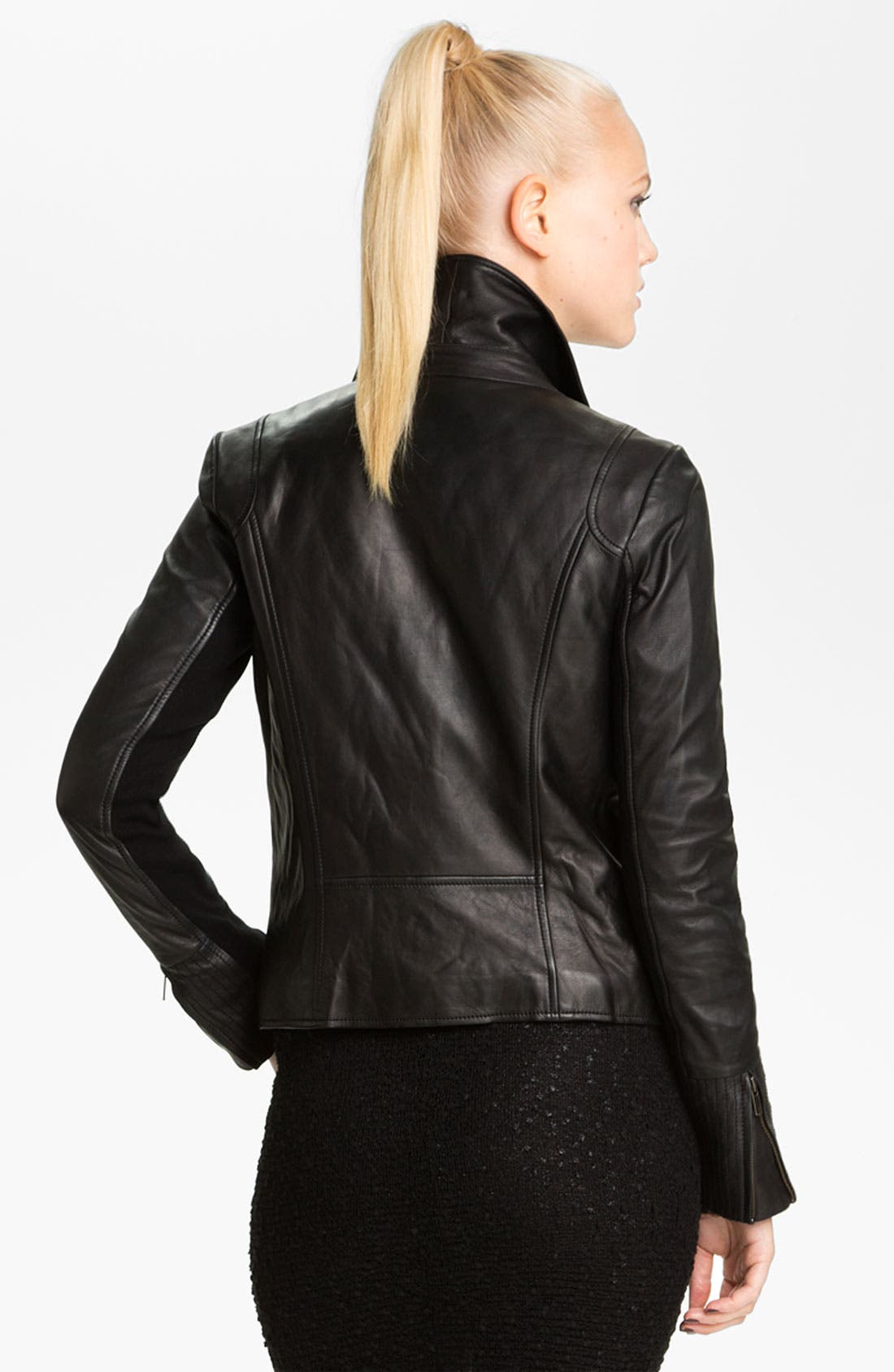 Alternate Image 2  - Trouvé Leather Moto Jacket