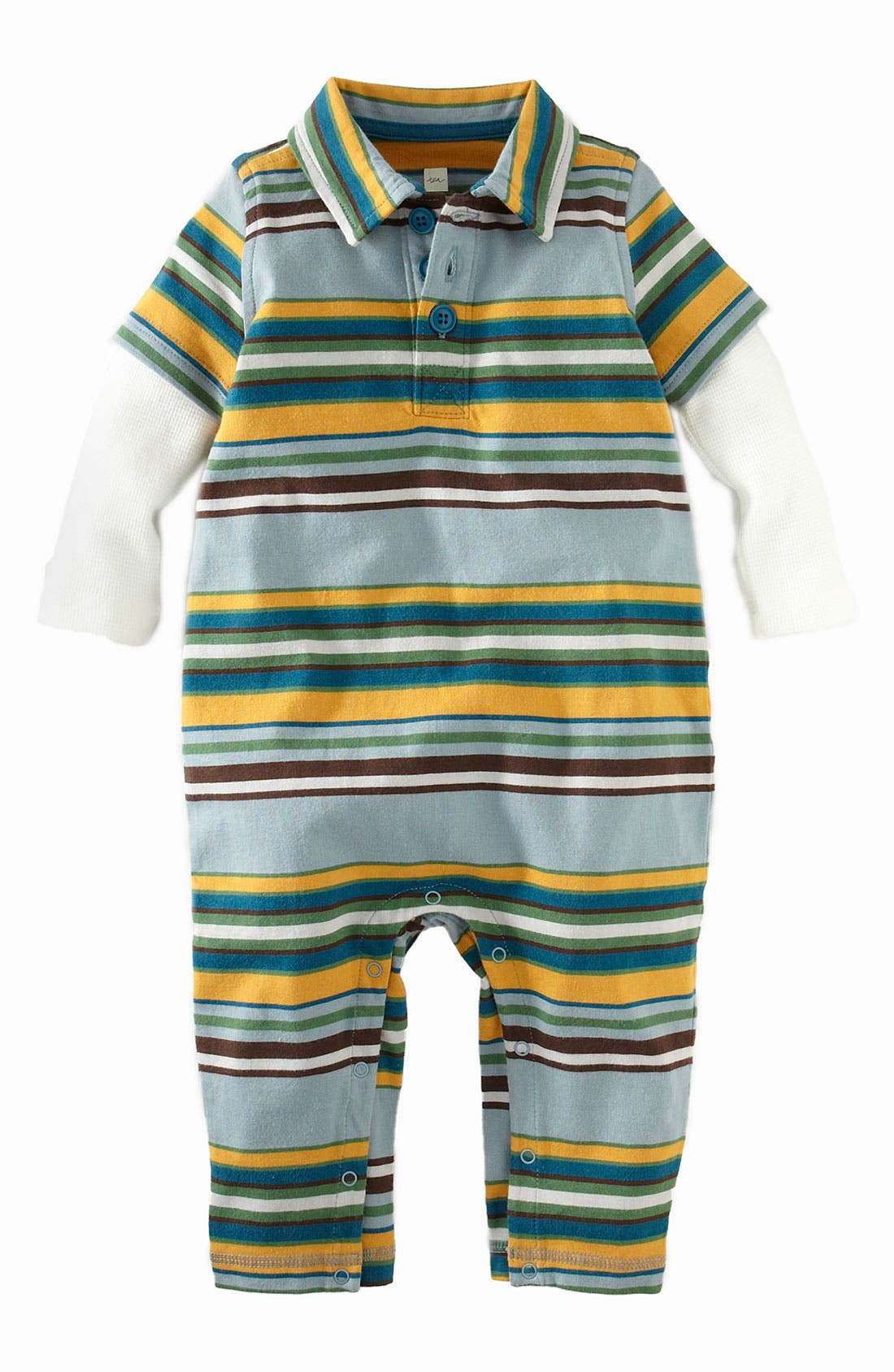 Alternate Image 1 Selected - Tea Collection 'Ski' Stripe Romper (Infant)