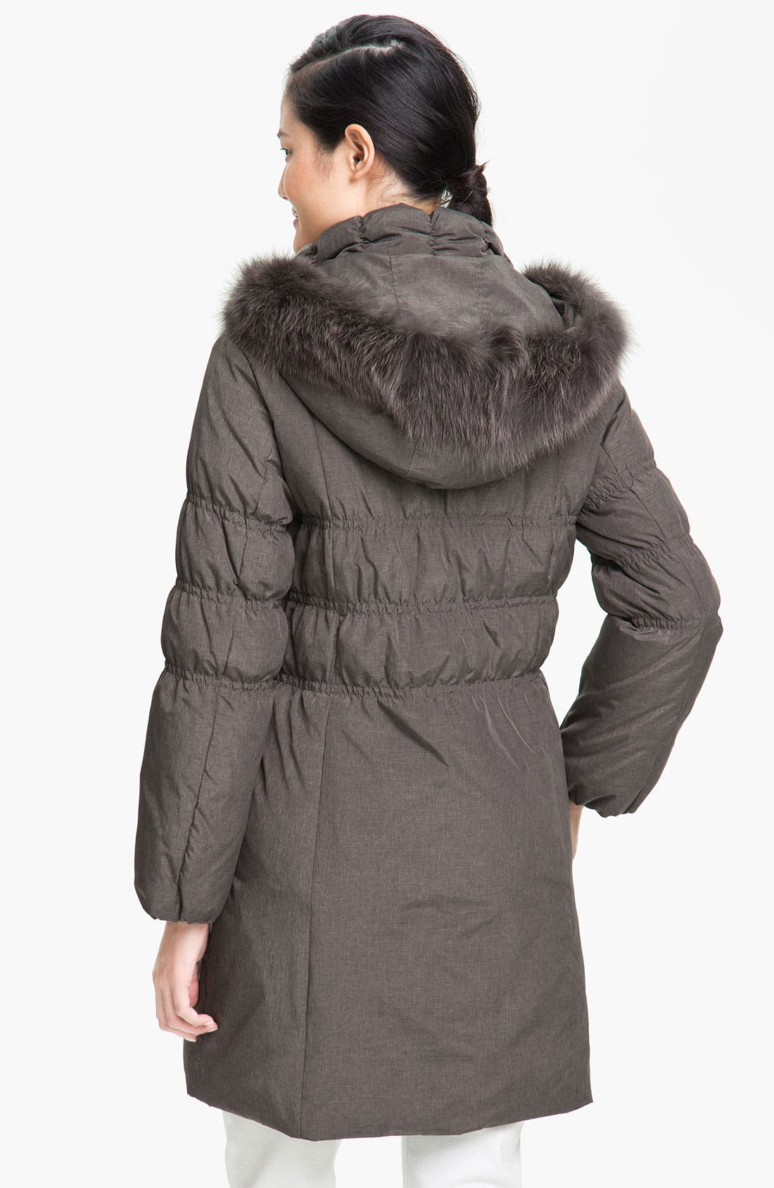 Alternate Image 2  - Jessica Wilde Down Coat with Genuine Fox Fur
