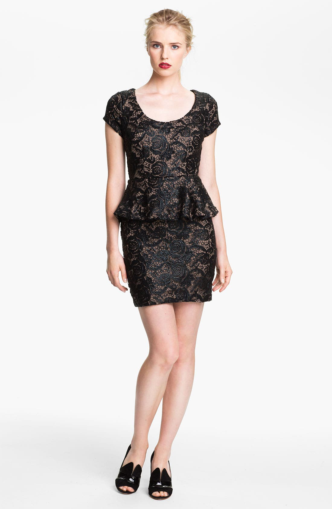 Alternate Image 1 Selected - Tracy Reese Lace Peplum Dress