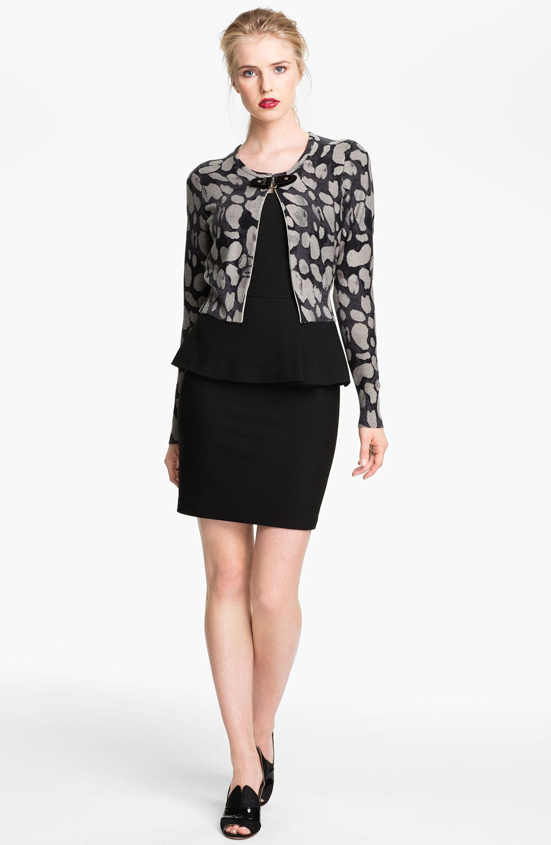 Main Image - Tracy Reese Print Cardigan (Nordstrom Exclusive)