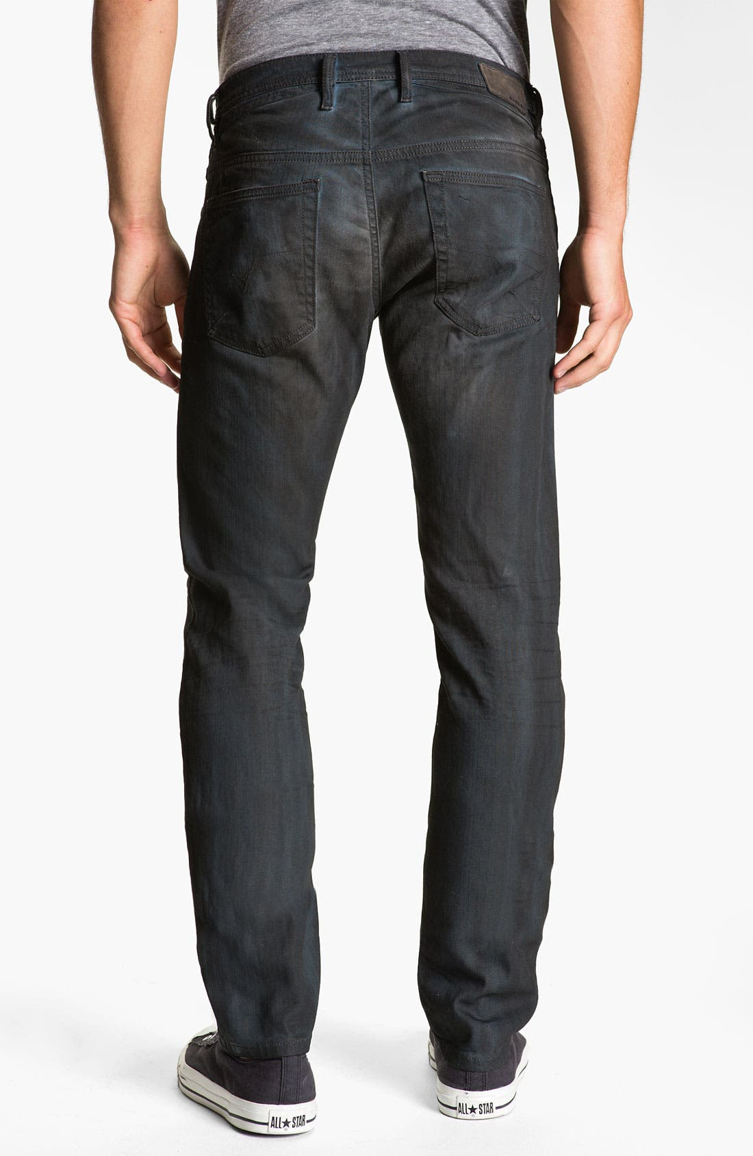 Alternate Image 1 Selected - DIESEL® 'Shioner' Slim Straight Leg Jeans (0886A)