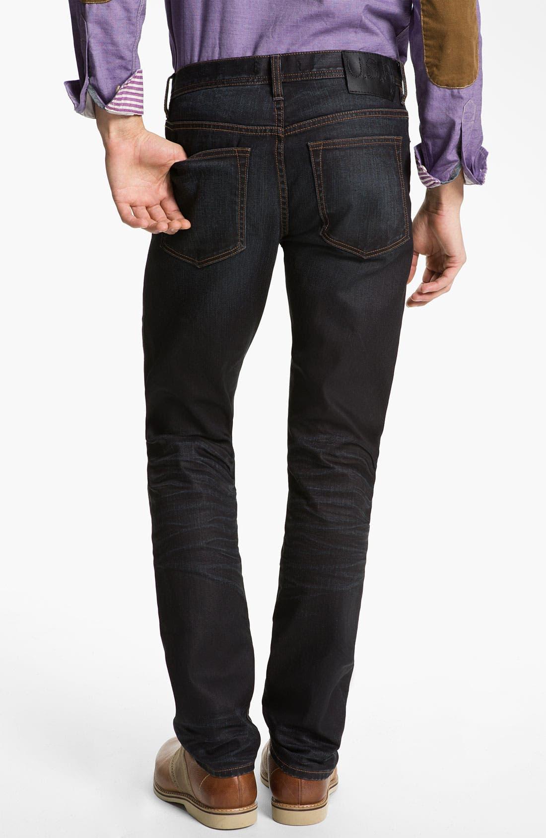 Alternate Image 2  - John Varvatos 'Bowery' Slim Straight Leg Jeans (Ink)