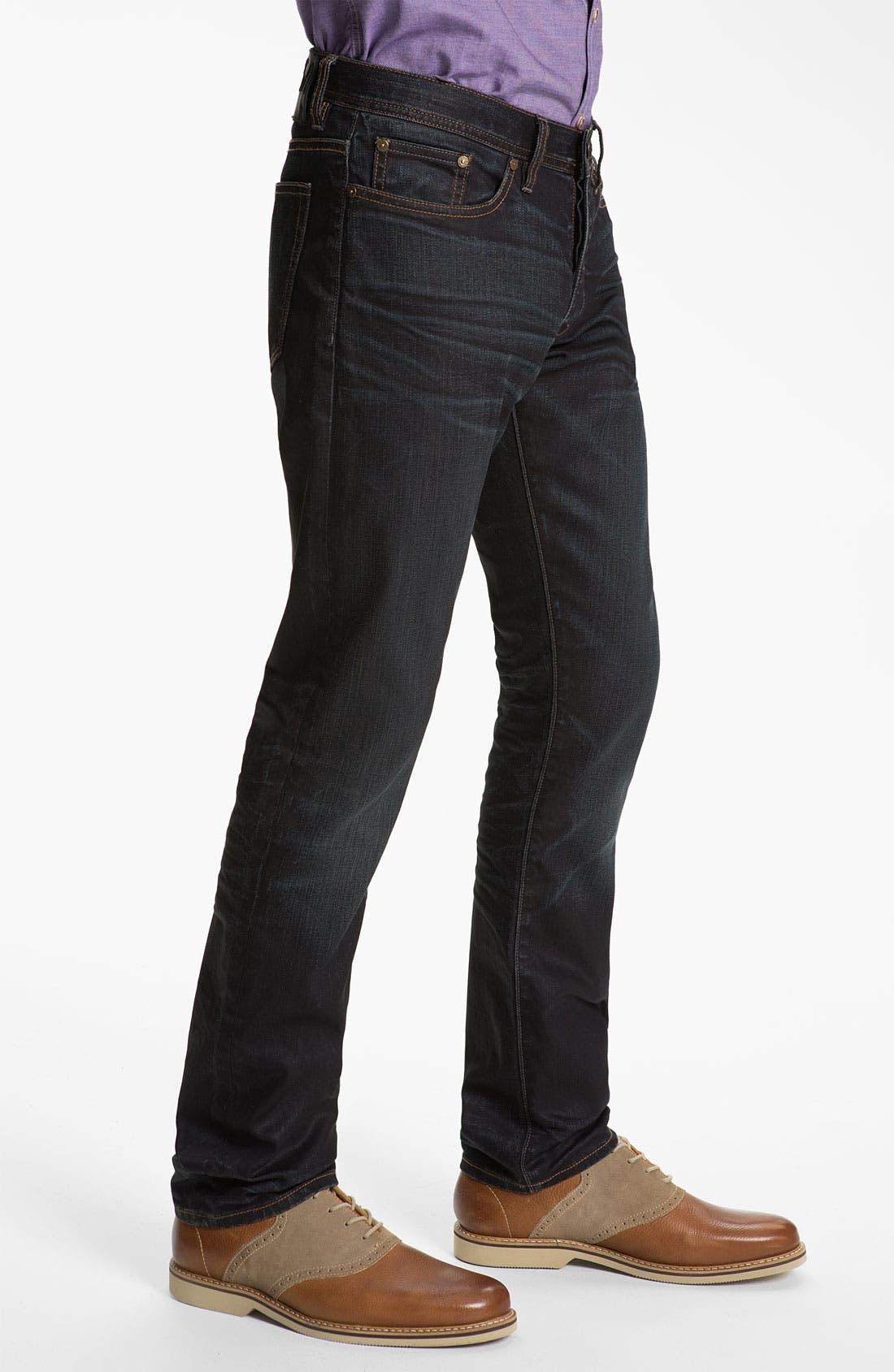 Alternate Image 3  - John Varvatos 'Bowery' Slim Straight Leg Jeans (Ink)
