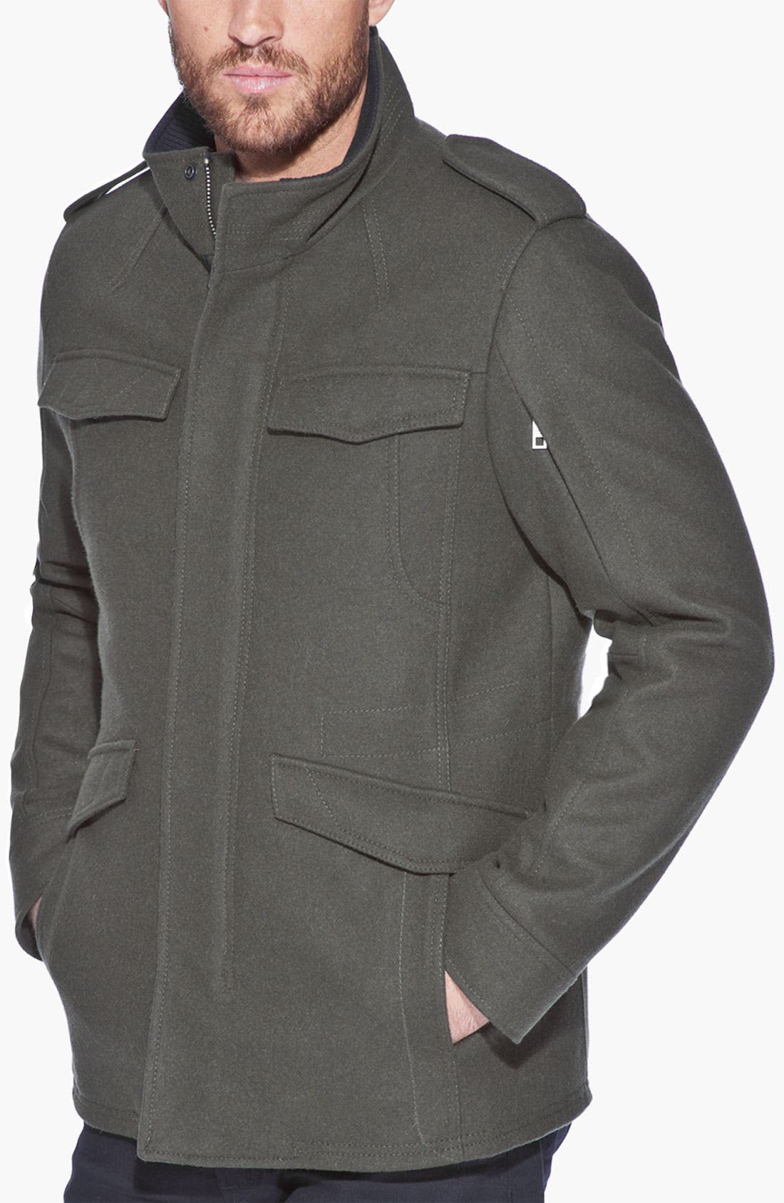 Main Image - Andrew Marc 'Fraction' Wool Blend Jacket