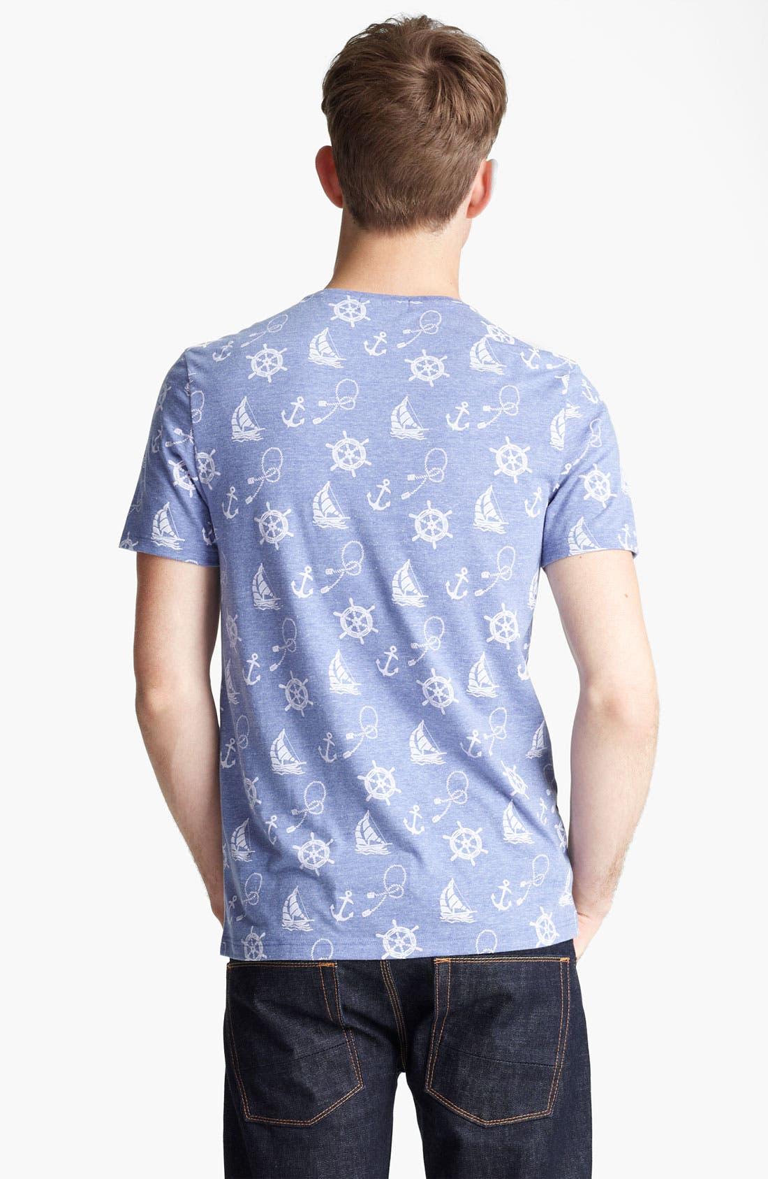 Alternate Image 2  - Topman 'Nautical' All Over Print T-Shirt