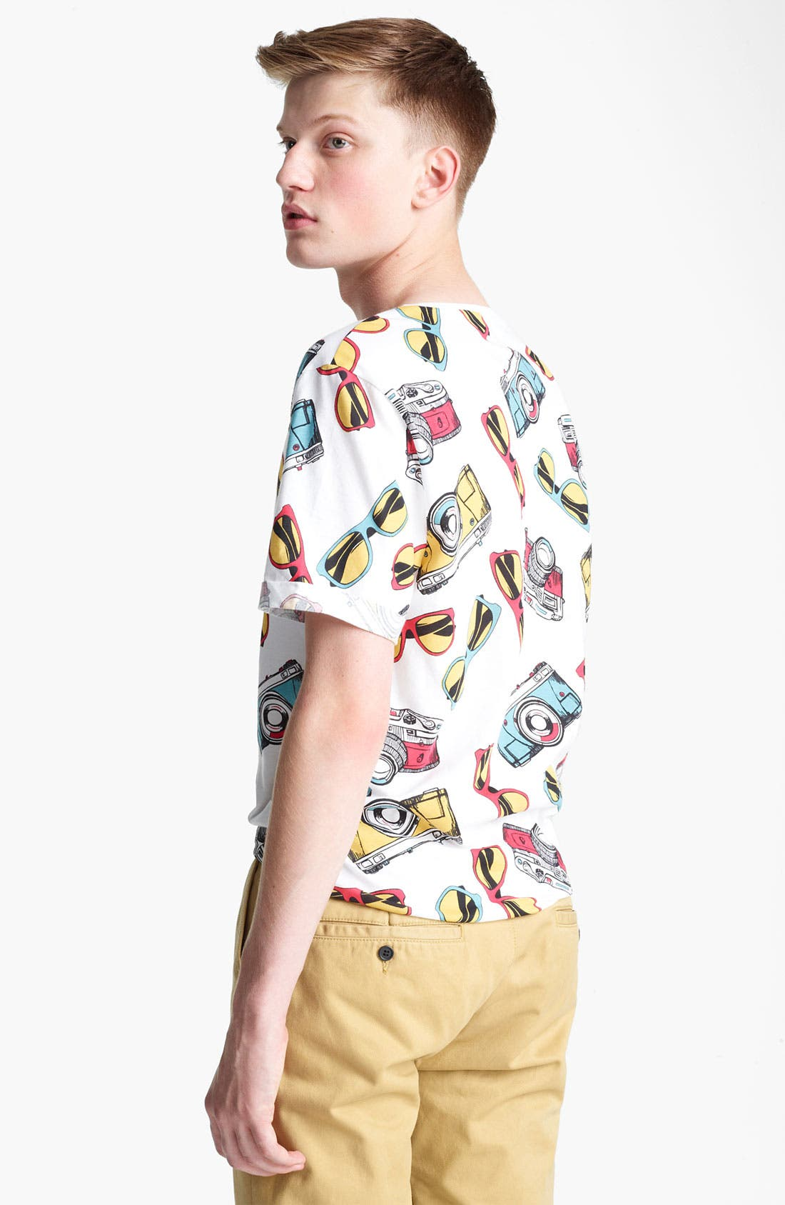 Alternate Image 2  - Topman 'Sunglasses and Cameras' All Over Print T-Shirt