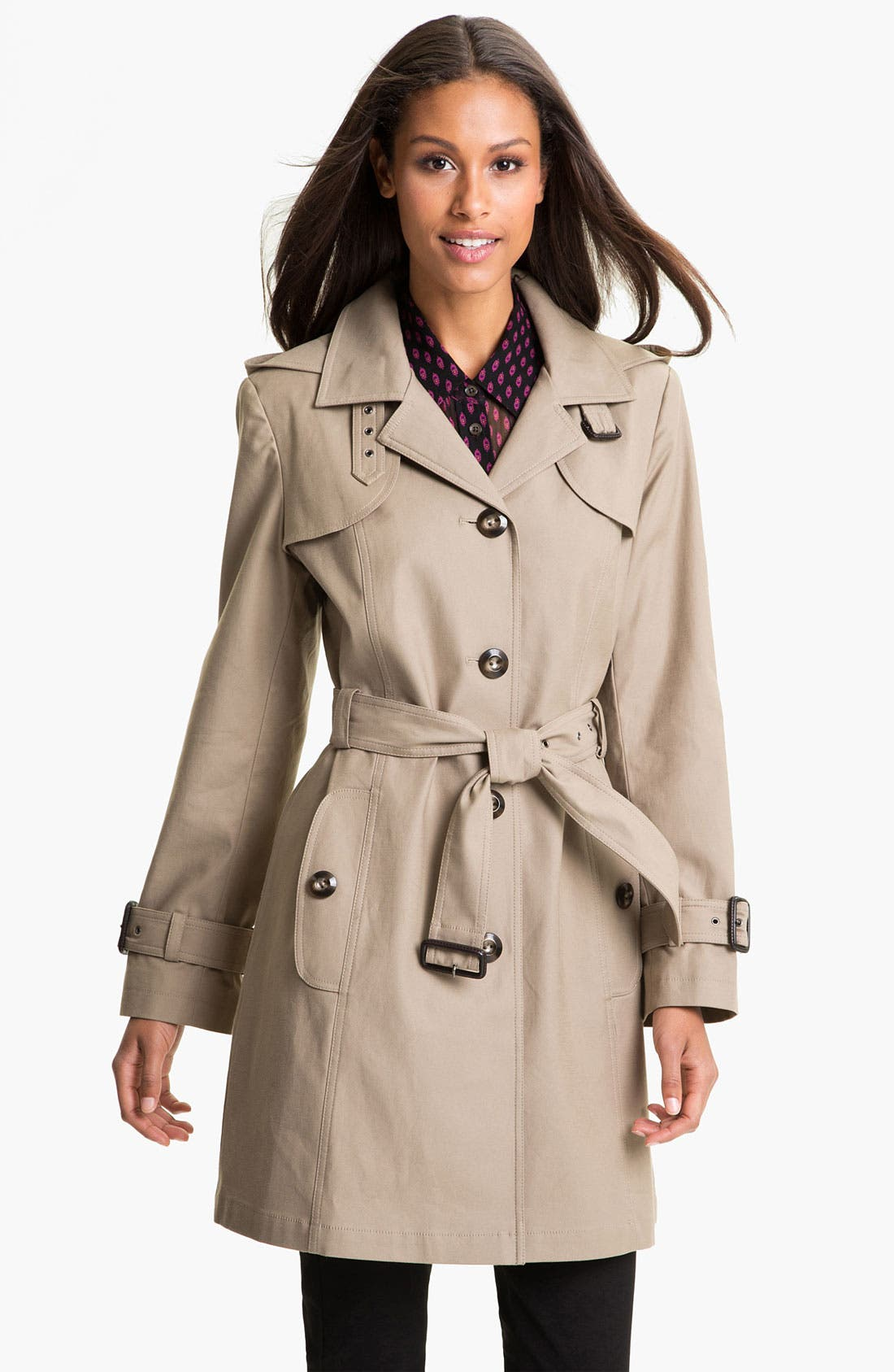 Alternate Image 1 Selected - Gallery Single Breasted Trench Coat