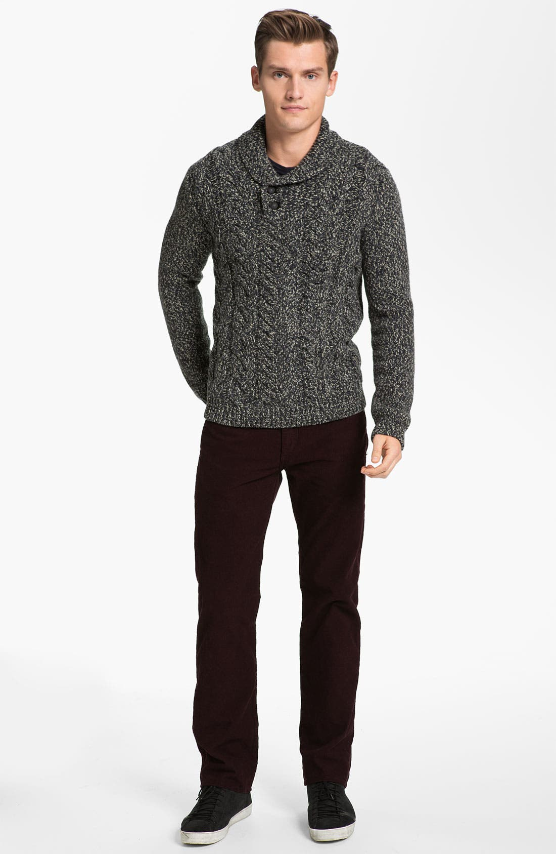 Alternate Image 4  - rag & bone 'Buxton' Shawl Collar Sweater