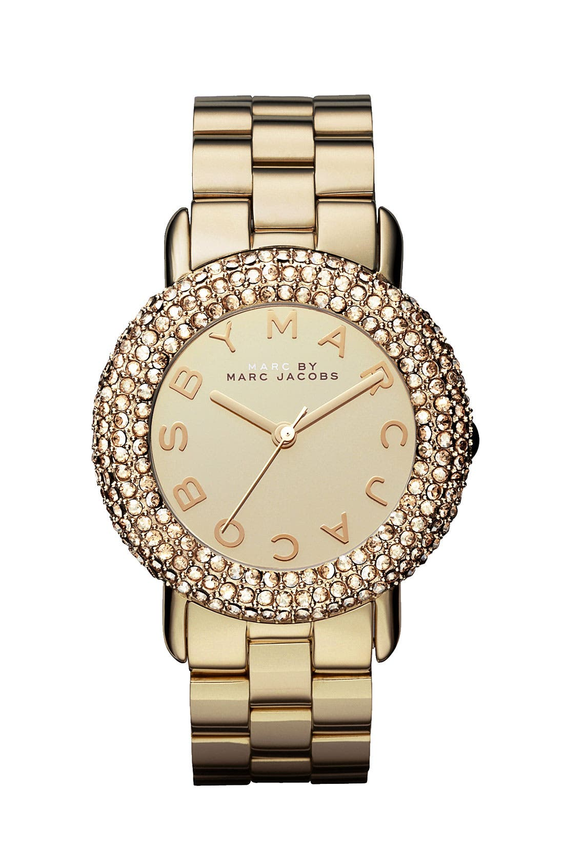 Main Image - MARC JACOBS 'Marci' Mirror Dial Crystal Bezel Watch, 36mm