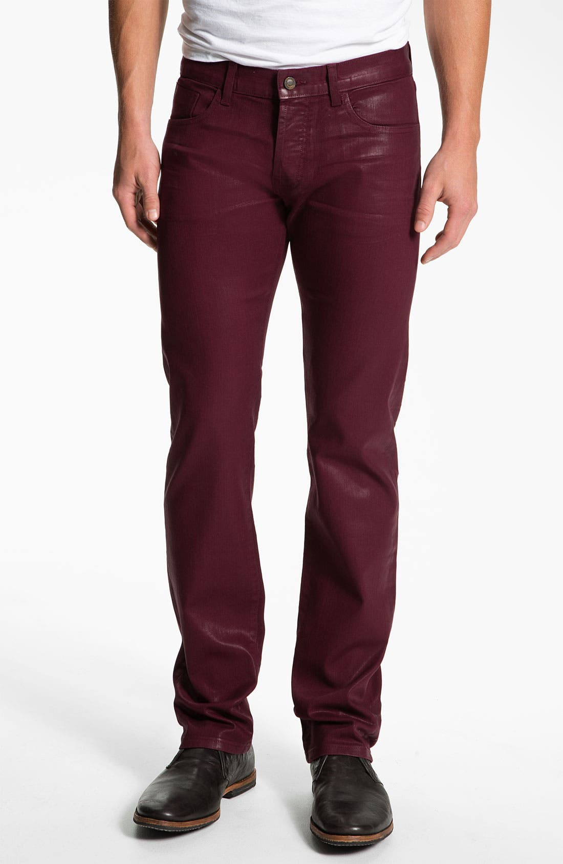 Alternate Image 2  - Madisonpark Collective 'Miles' Slim Straight Leg Jeans (Merlot)