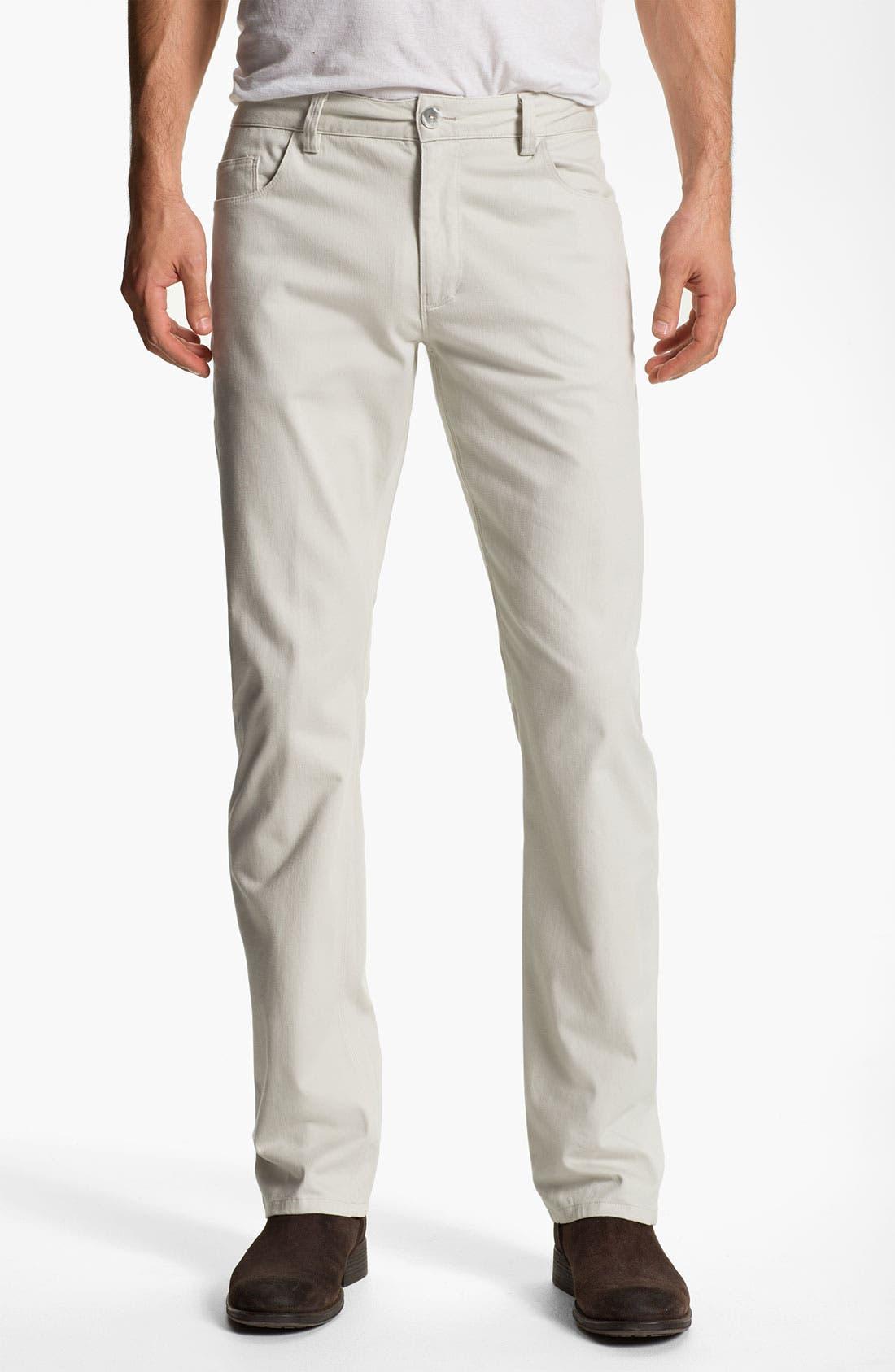 Alternate Image 1 Selected - Alex Maine Straight Leg Twill Pants