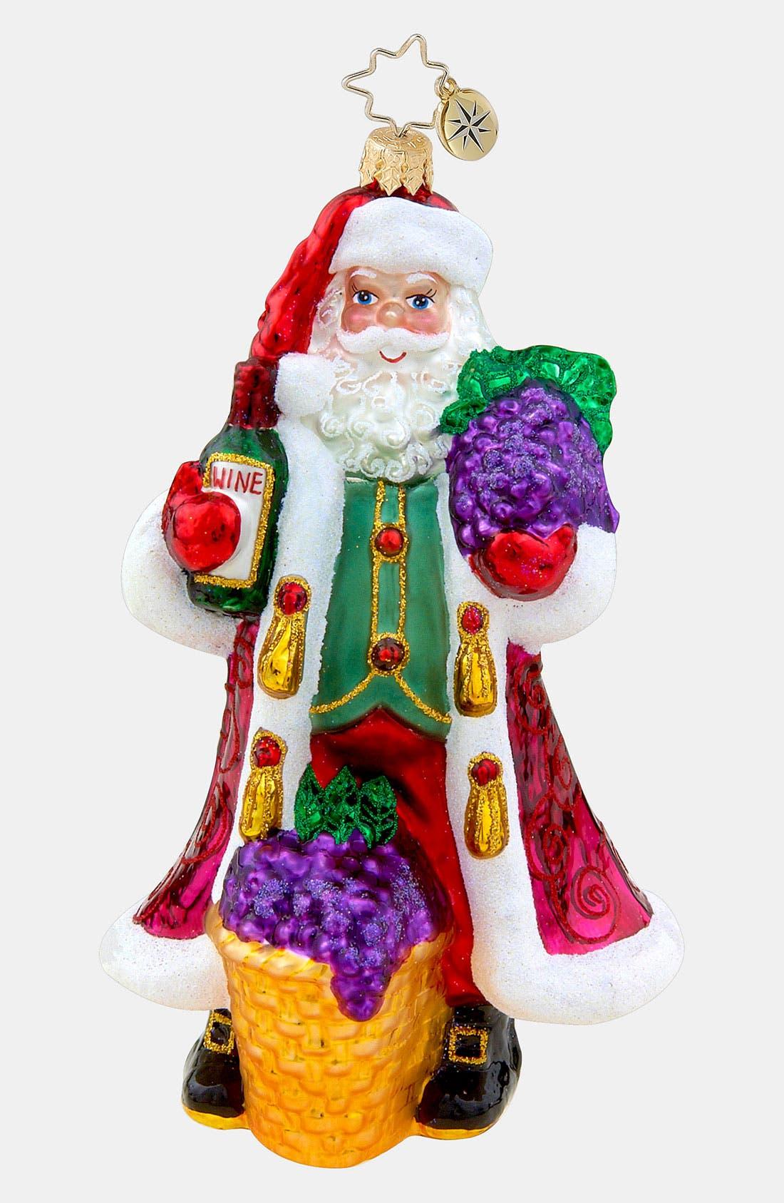 Main Image - Christopher Radko 'Merlot Merriment' Ornament
