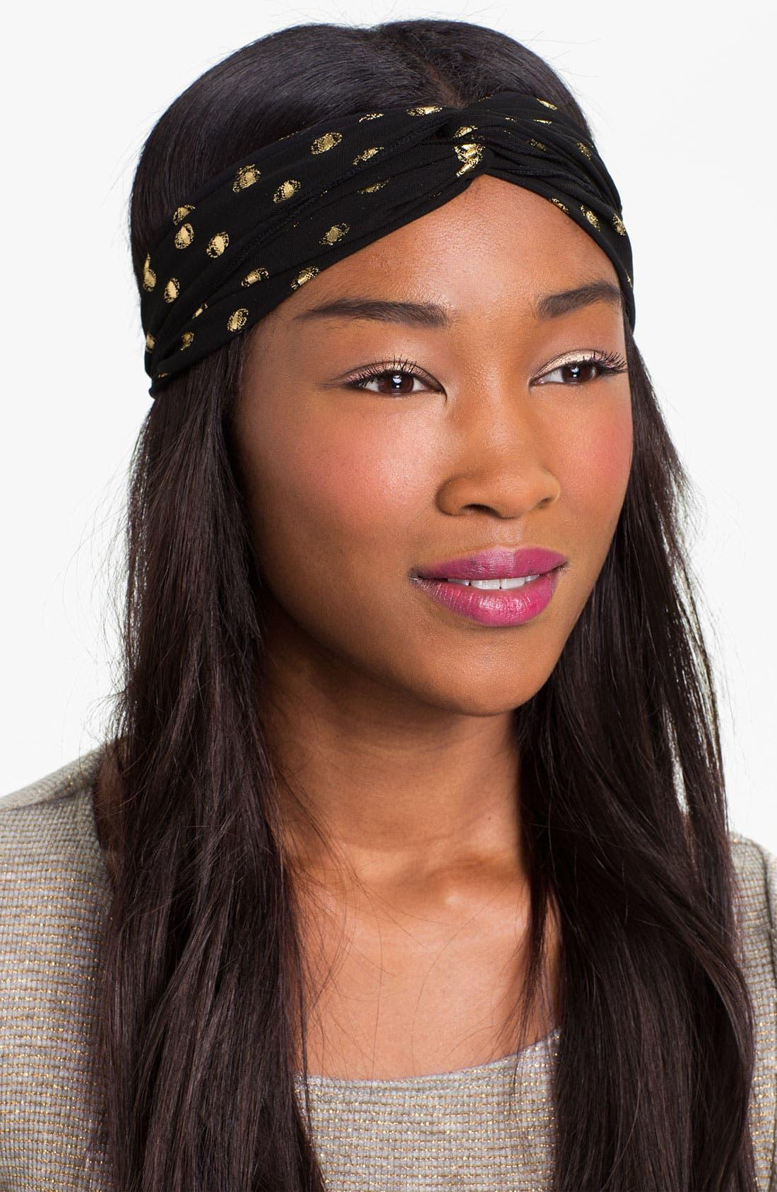 Main Image - Carole Print Twist Knot Headband