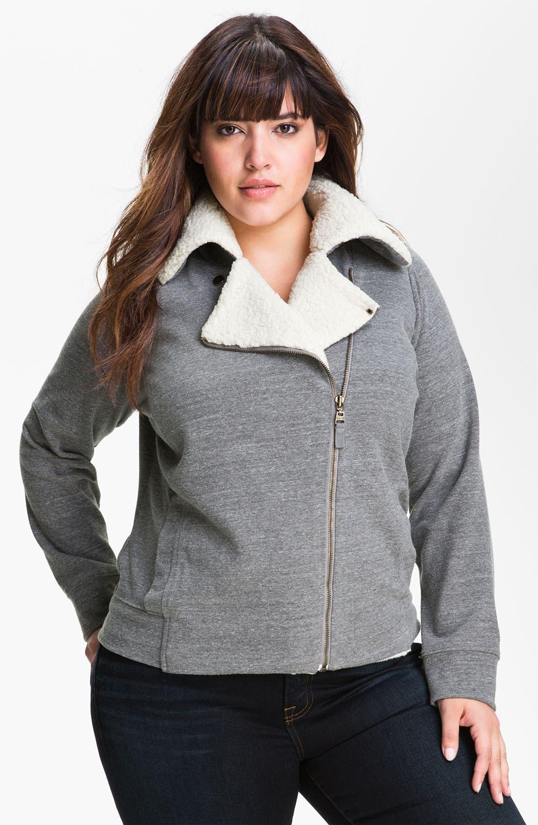 Alternate Image 1 Selected - Splendid Lined Moto Jacket (Plus)