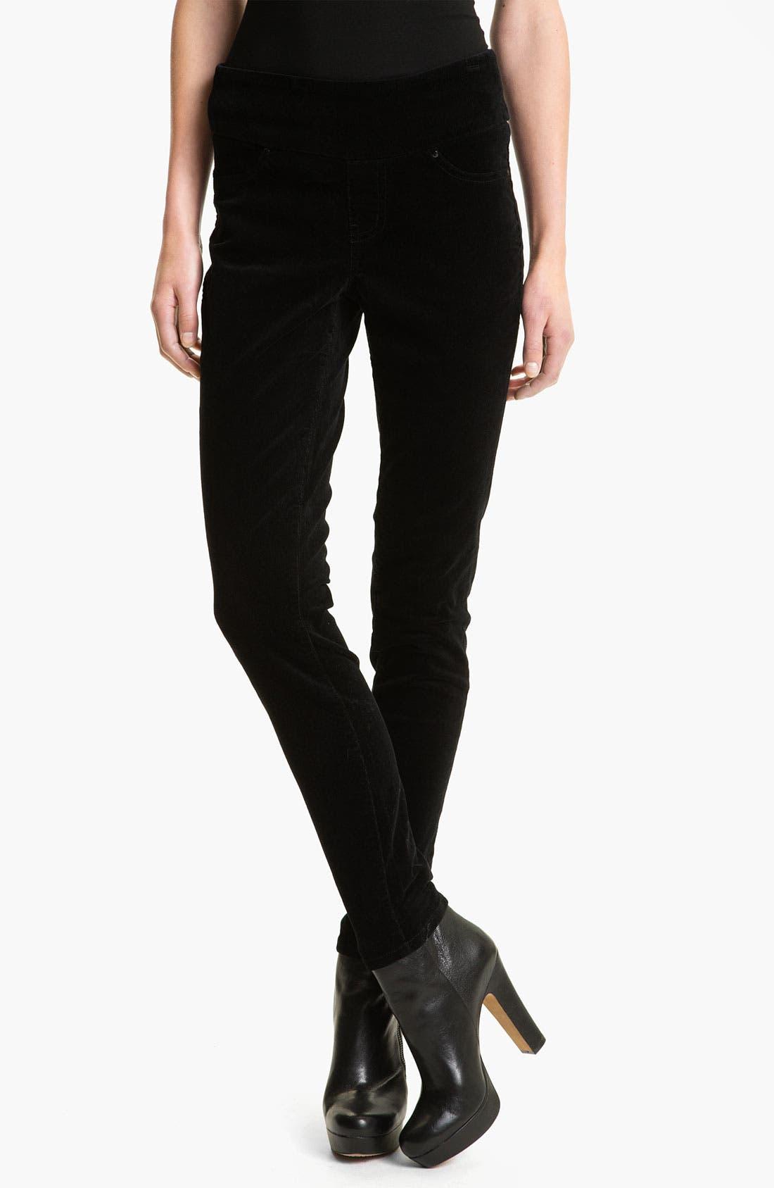 Alternate Image 1 Selected - Jag Jeans 'Nikki' Corduroy Leggings (Petite)
