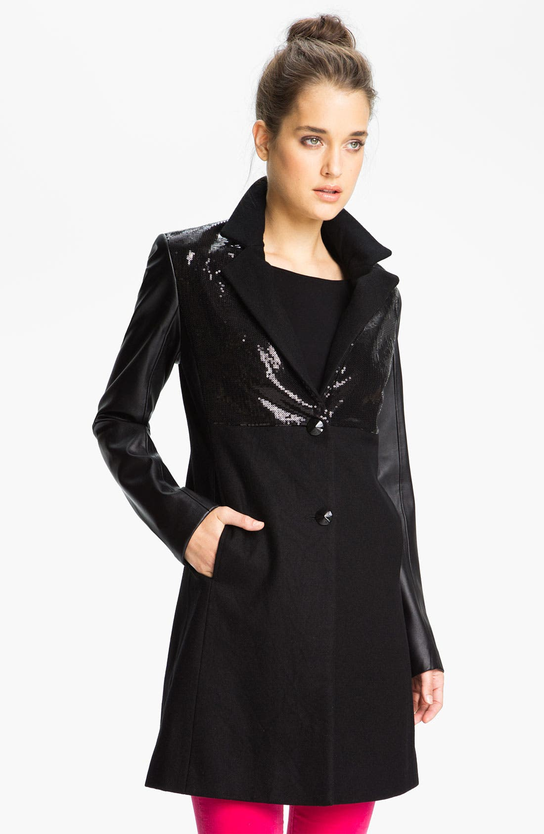 Alternate Image 1  - Sam Edelman Sequin Embellished Coat