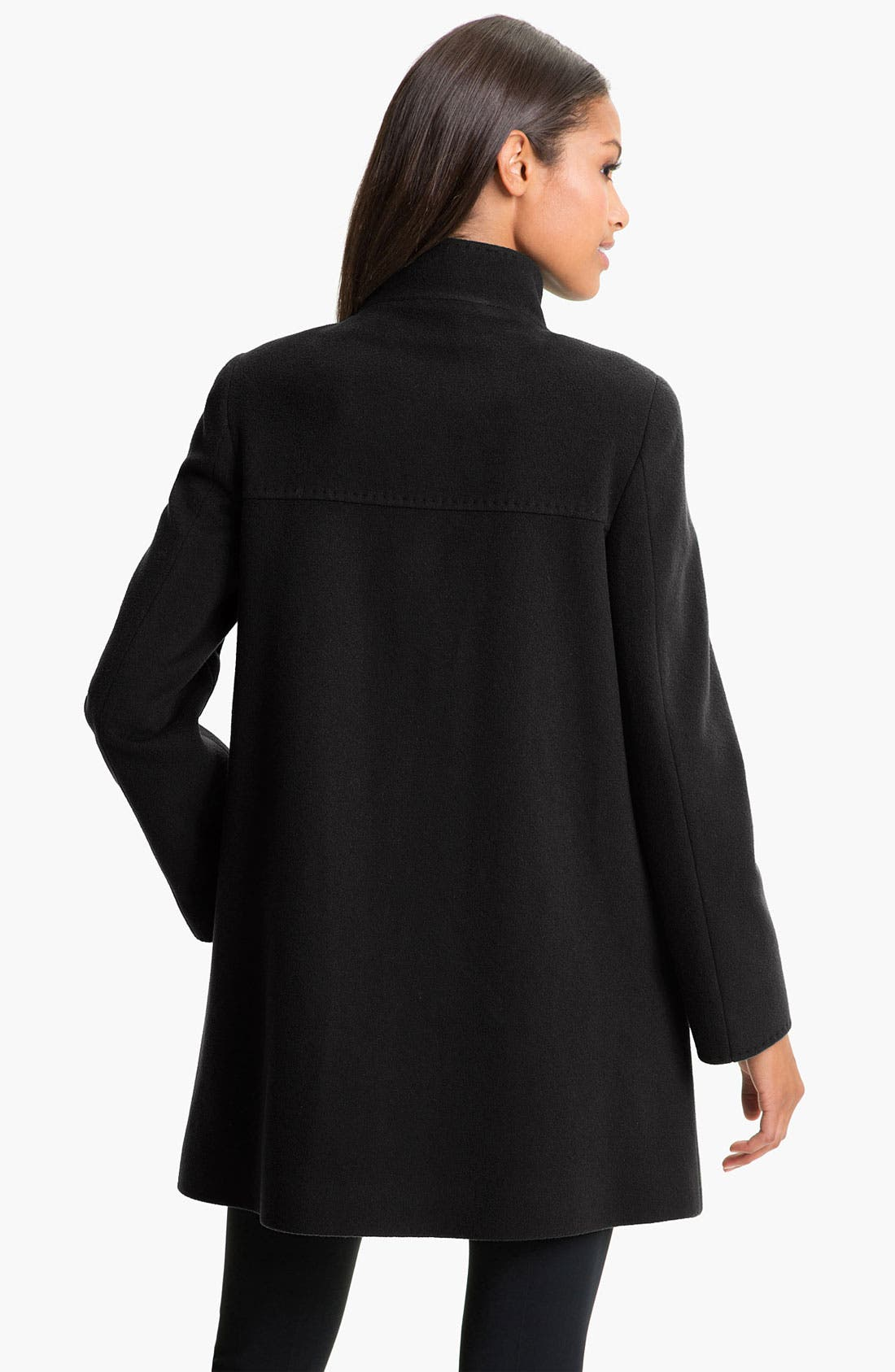 Alternate Image 2  - Cinzia Rocca A-Line Wool Blend Coat