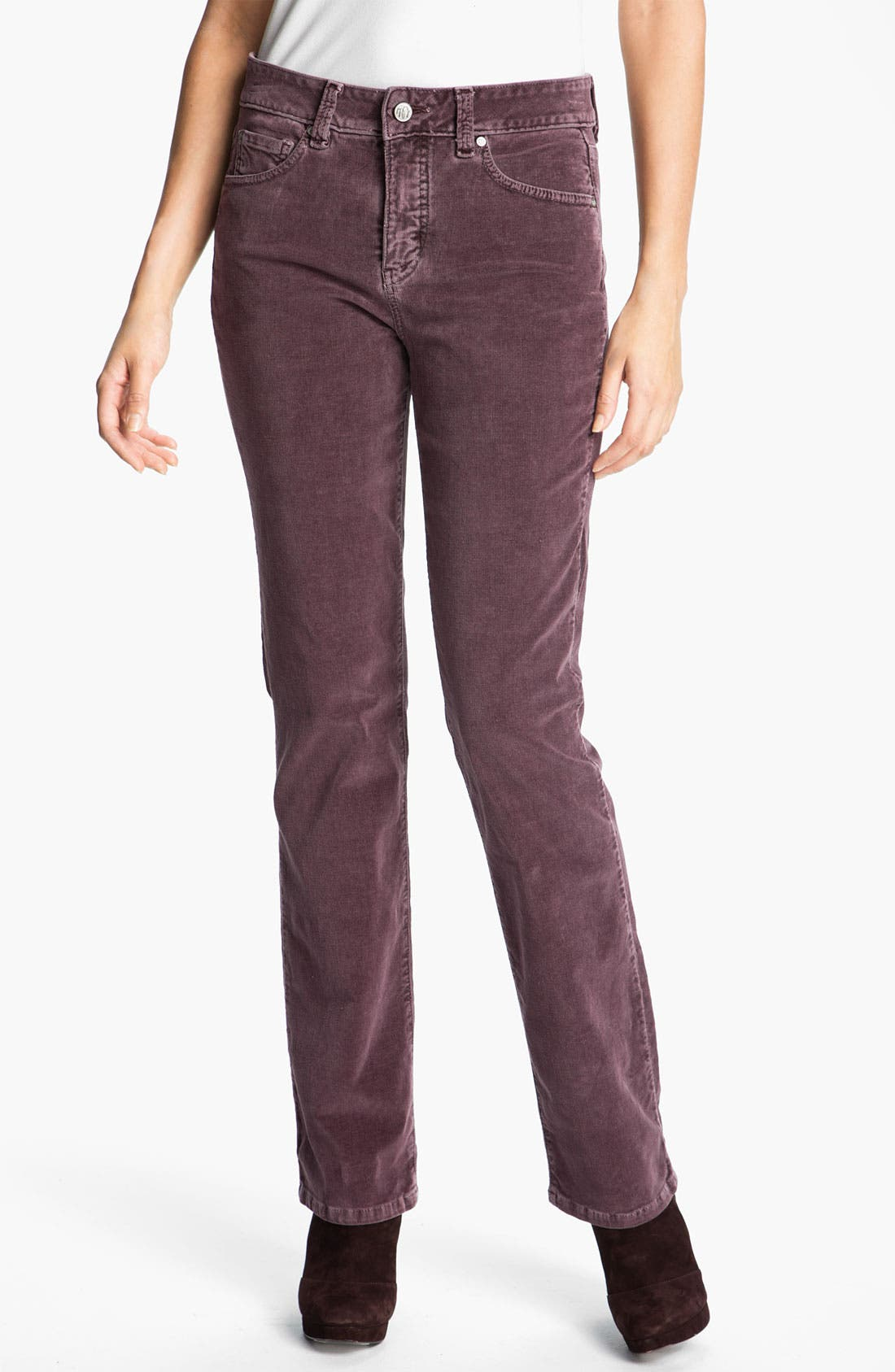 Main Image - Miraclebody 'Katie' Straight Leg Stretch Corduroy Jeans