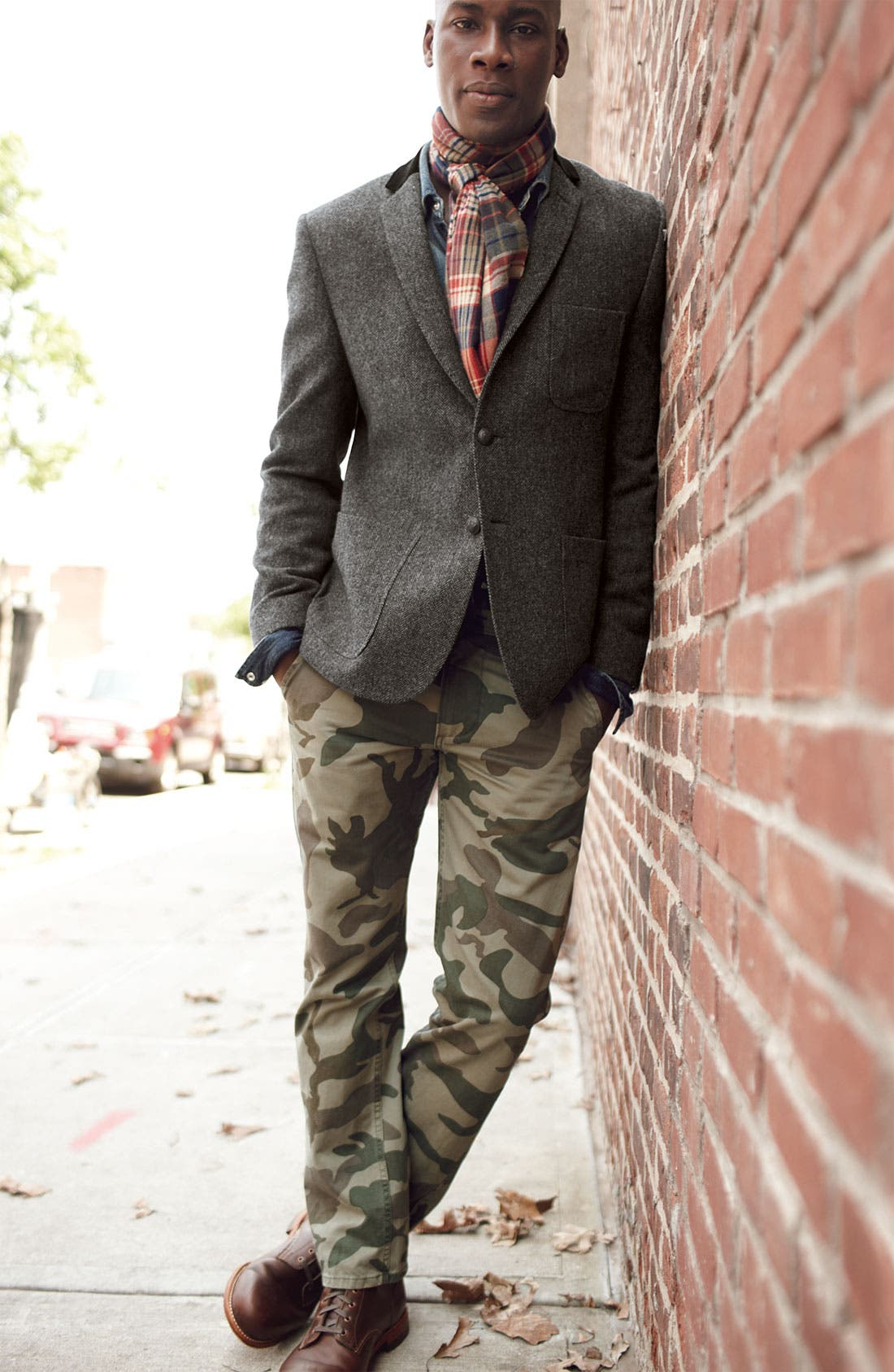 Alternate Image 2  - Dockers® Wool Blazer, PRPS Denim Shirt & Dockers® Camo Chinos