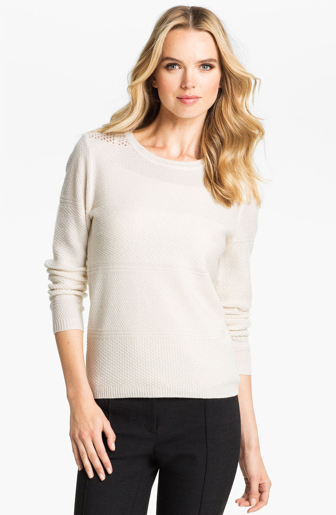 Alternate Image 1 Selected - Classiques Entier® Multi Texture Sweater