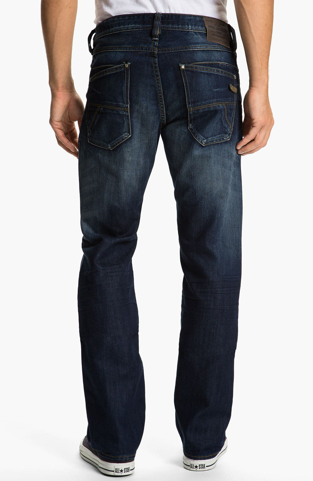 Main Image - Projek Raw Relaxed Straight Leg Jeans (Blue)