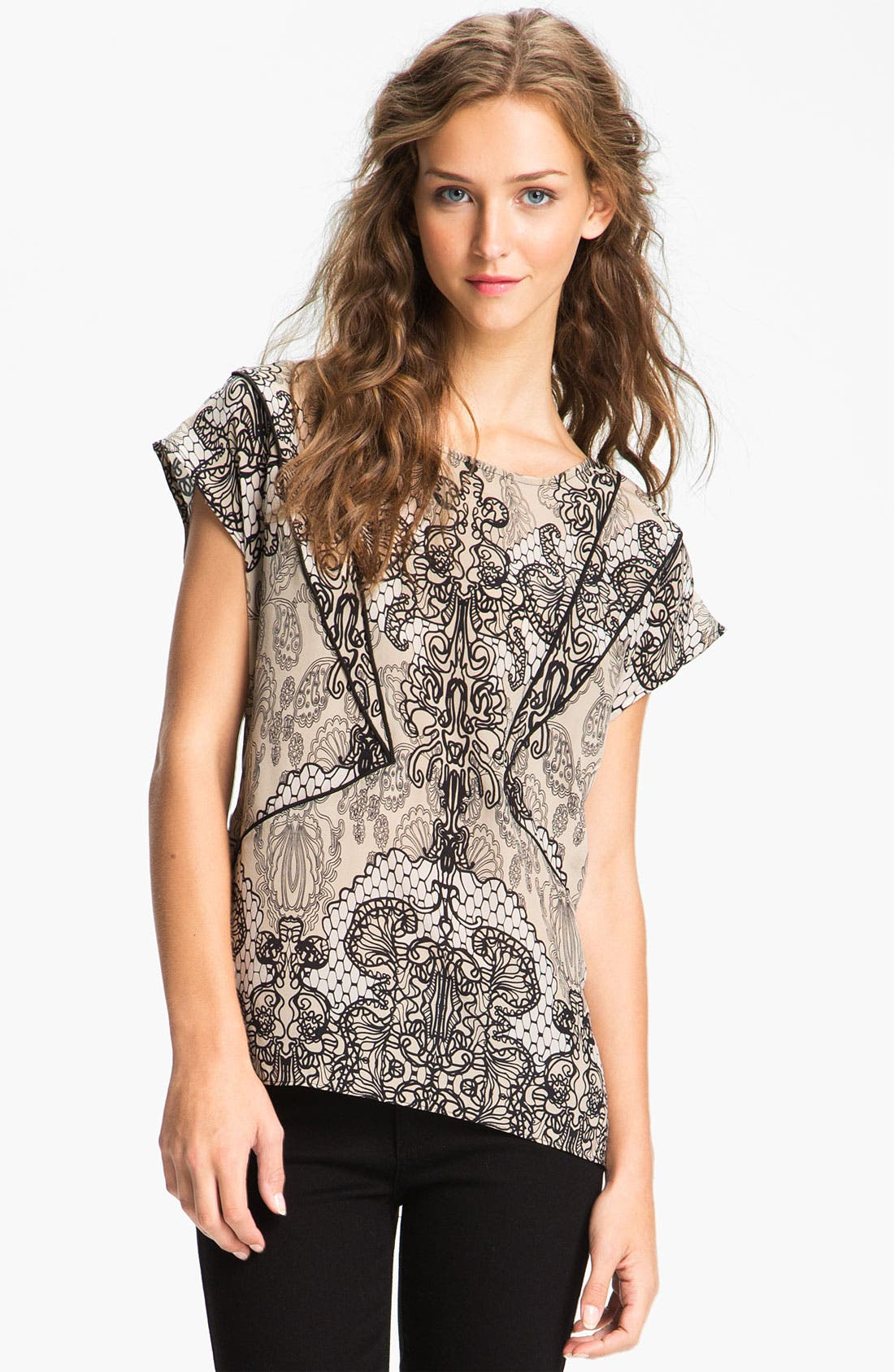 Main Image - Willow & Clay Lace Print Top