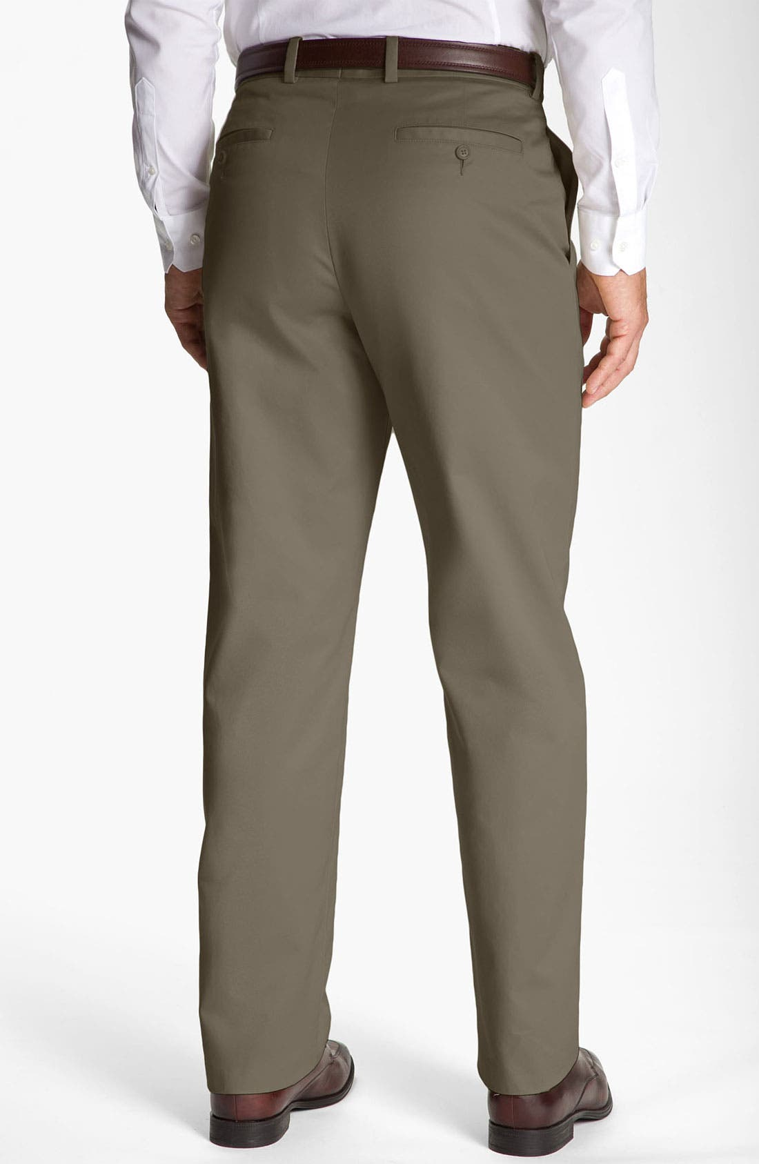 Alternate Image 2  - John W. Nordstrom® Smartcare™ Flat Front Supima® Cotton Pants
