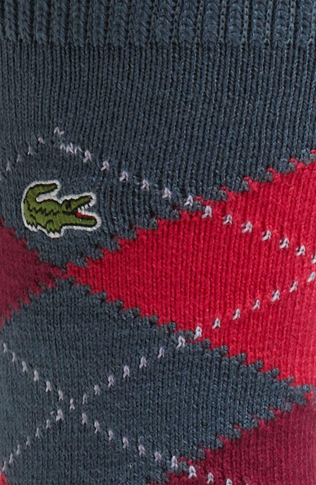 Alternate Image 2  - Lacoste Argyle Crew Socks