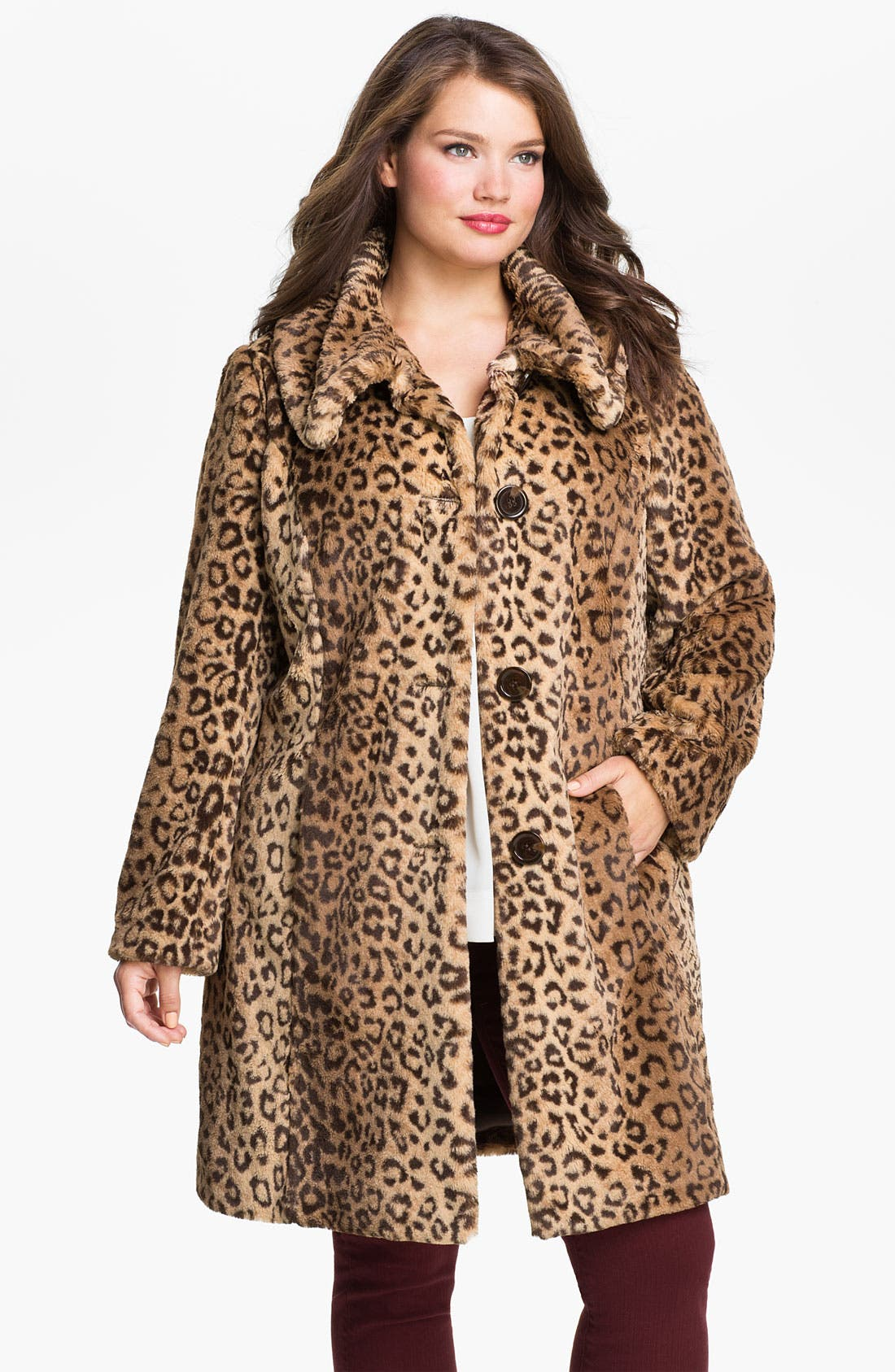 Alternate Image 1 Selected - Weatherproof® Faux Fur Topper (Plus)