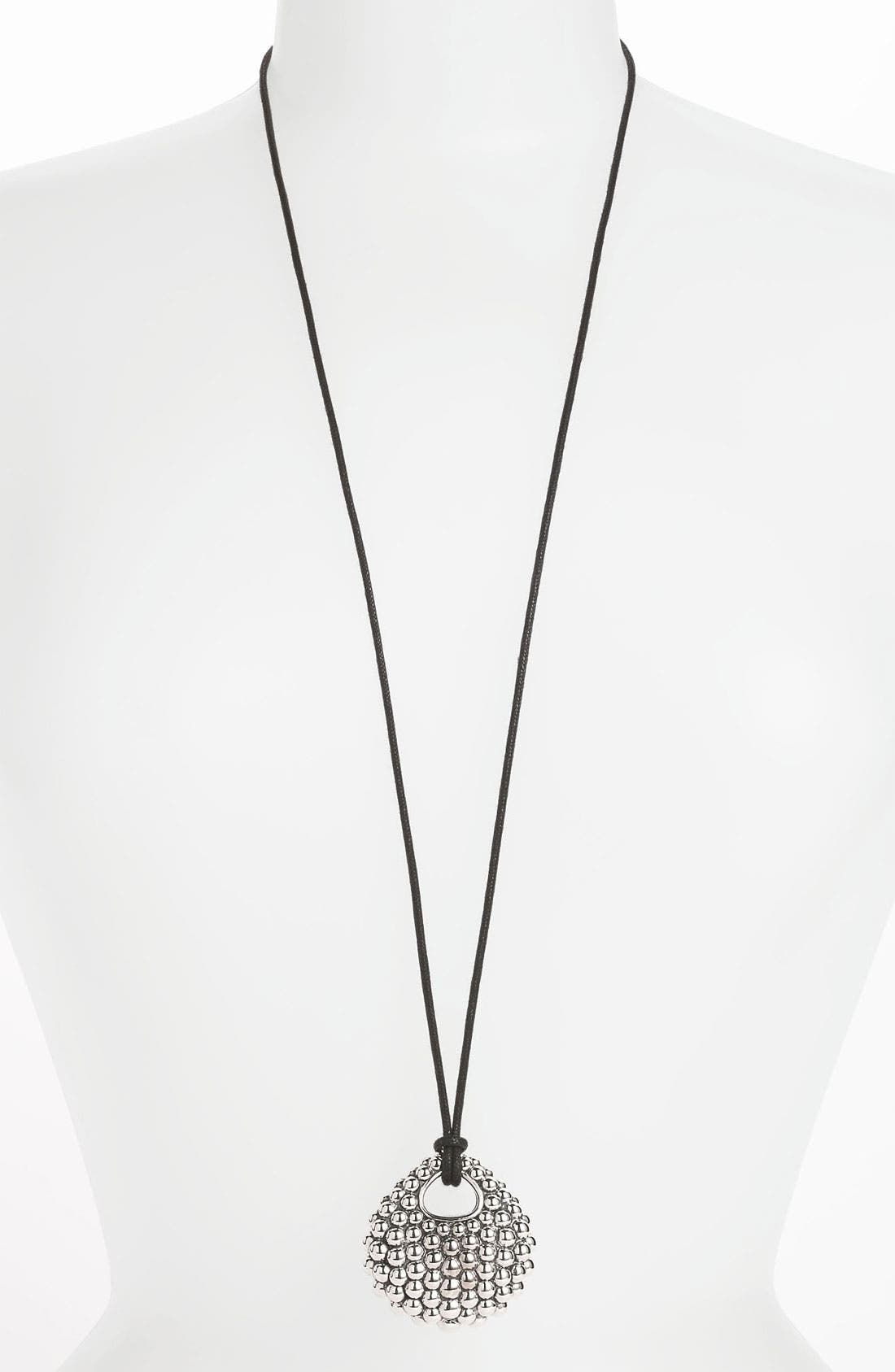 Alternate Image 1 Selected - LAGOS 'Bold' Caviar Long Pendant Necklace