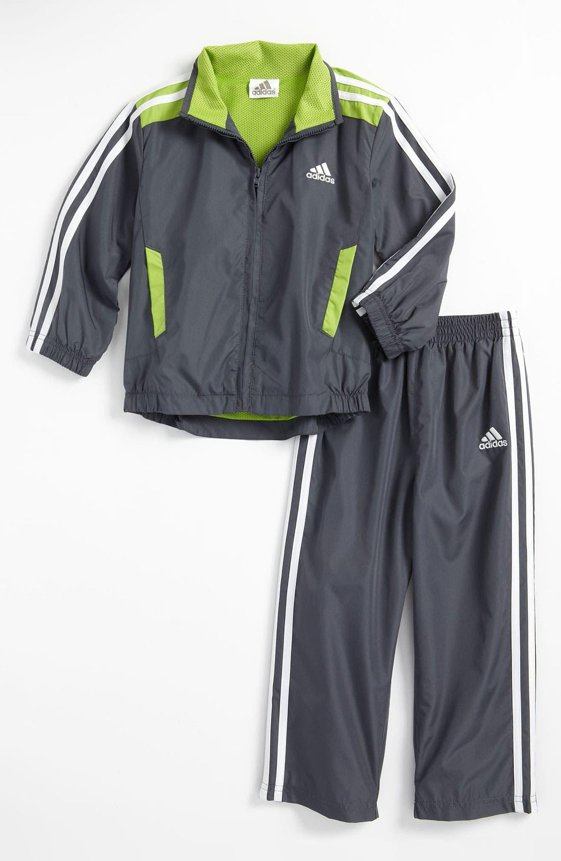 Alternate Image 1 Selected - adidas 'Essential Q15' Jacket & Pants (Toddler)
