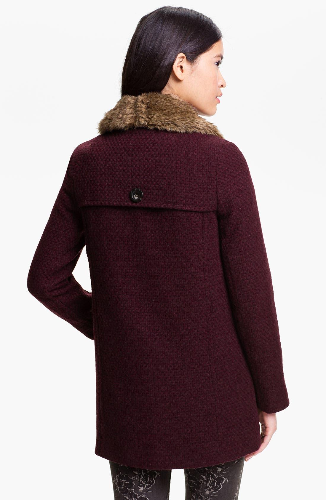 Alternate Image 2  - BP. Faux Fur Collar Coat (Juniors)