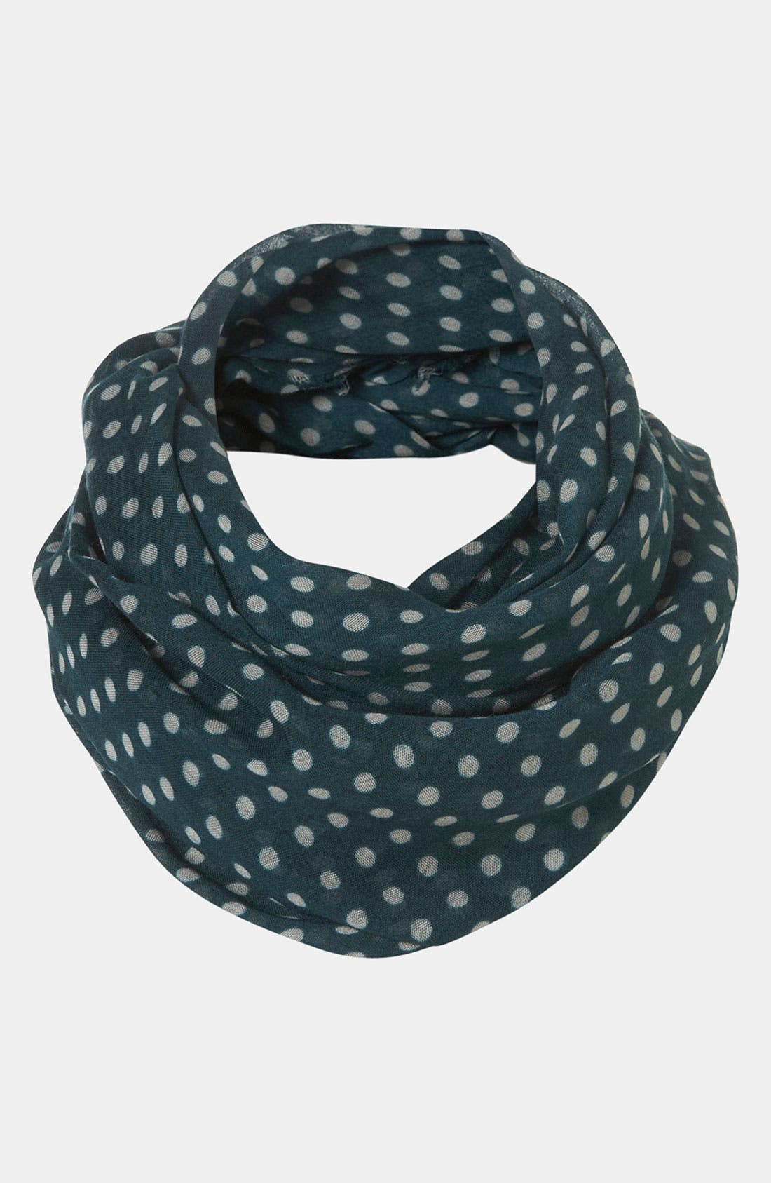 Alternate Image 1 Selected - Topshop 'Factory Girl' Polka Dot Circle Scarf