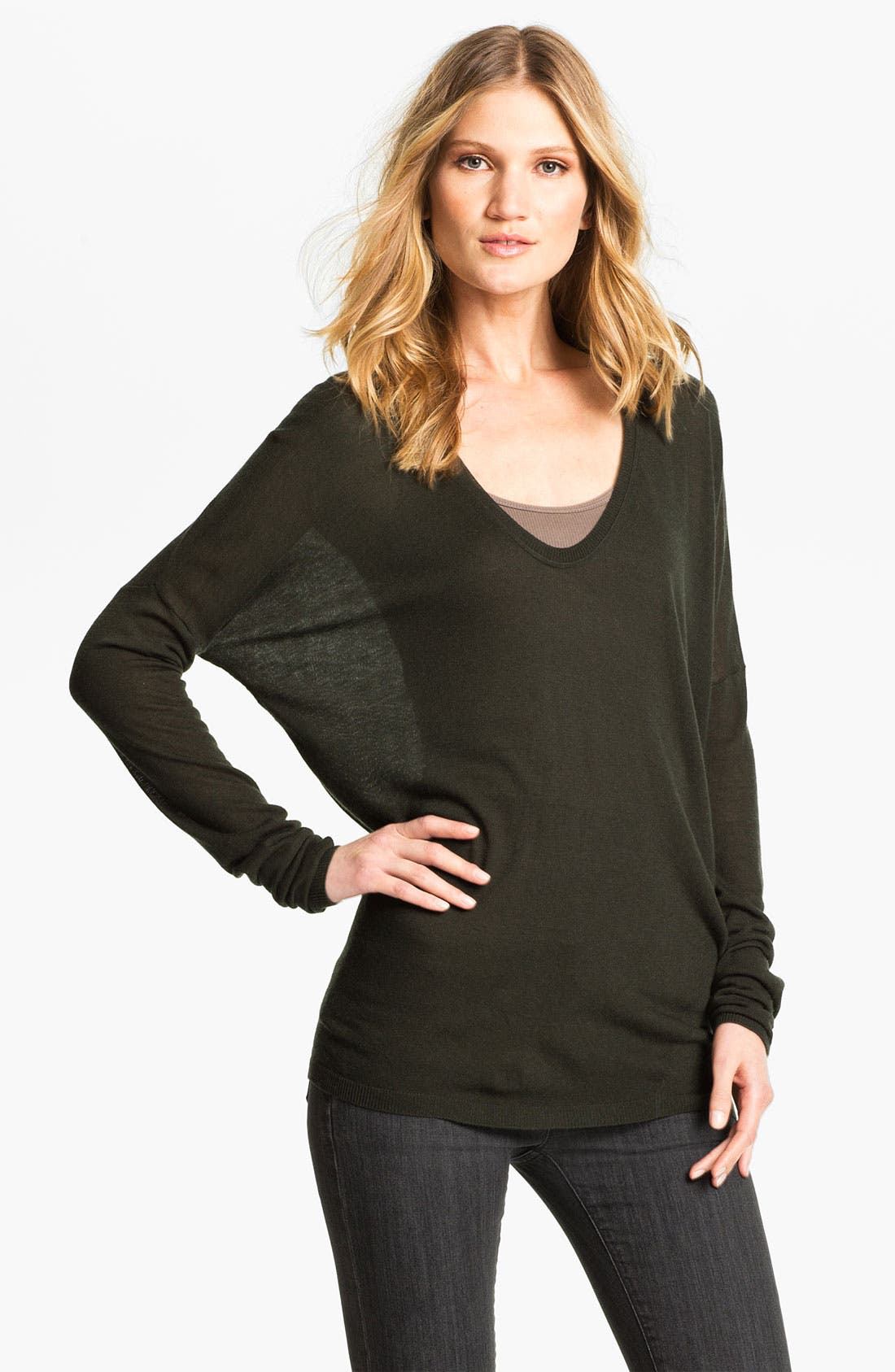 Alternate Image 1 Selected - Vince V-Neck Sweater