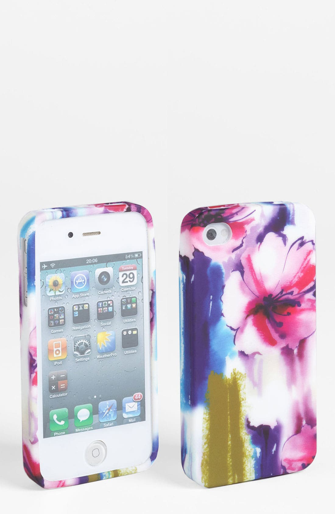 Main Image - Design Lab 'Matte Floral' iPhone 4 & 4S Case
