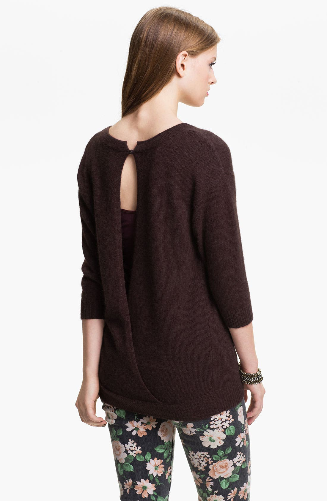Alternate Image 2  - Frenchi® Envelope Back Sweater (Juniors)