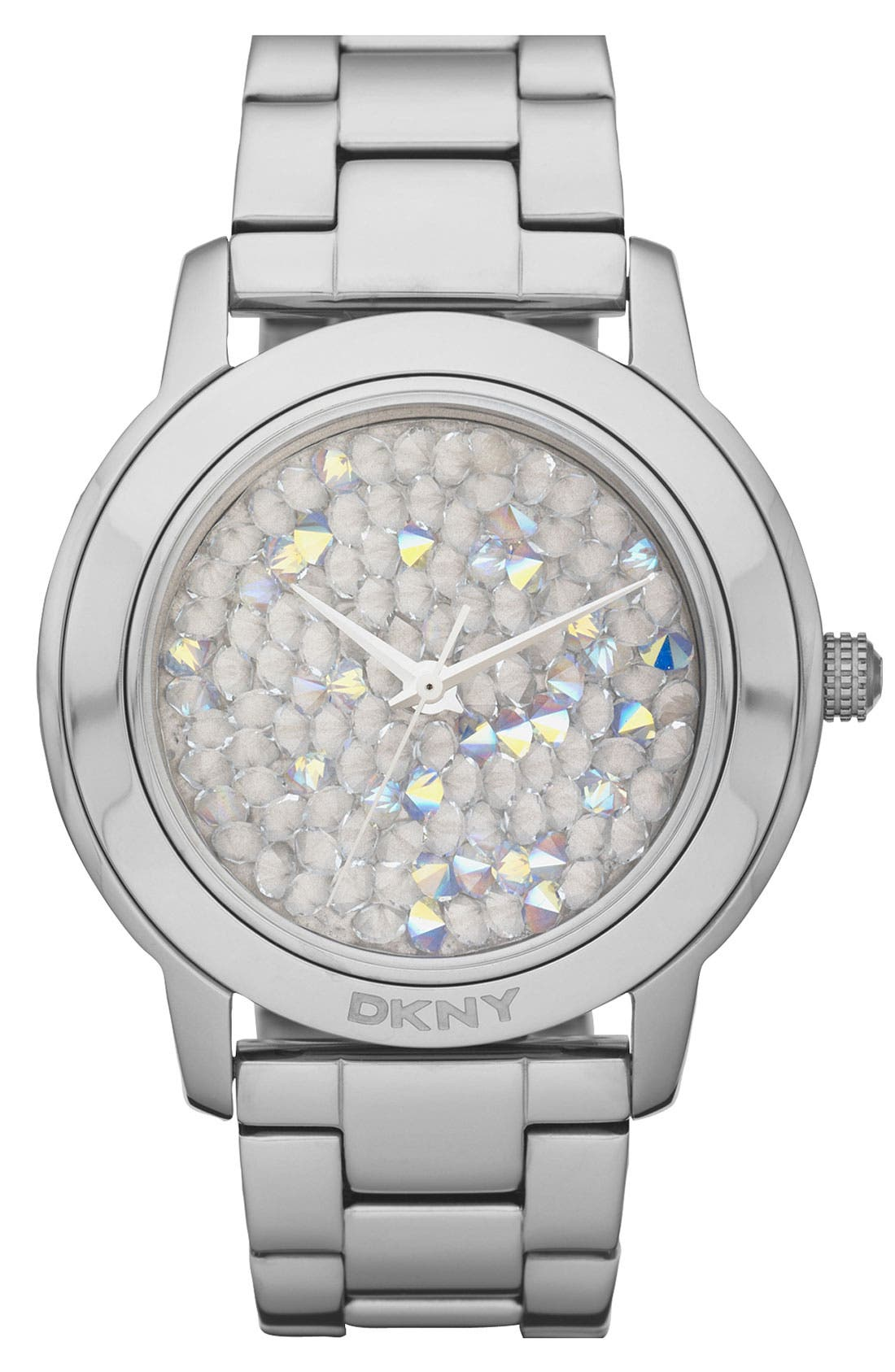 Alternate Image 1 Selected - DKNY 'Large Round Rocky' Bracelet Watch