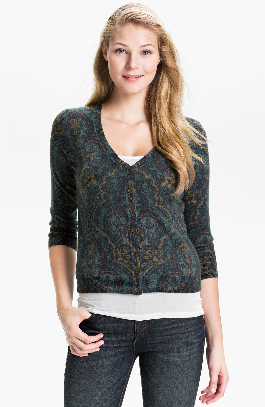 Alternate Image 1 Selected - Lucky Brand 'Oriental Rug' Cardigan (Online Exclusive)