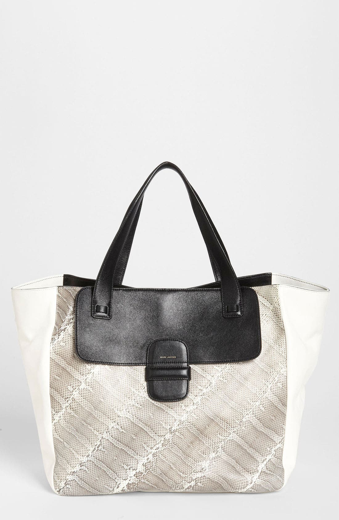 Alternate Image 1 Selected - MARC JACOBS 'Khaki' Snakeskin & Leather Tote