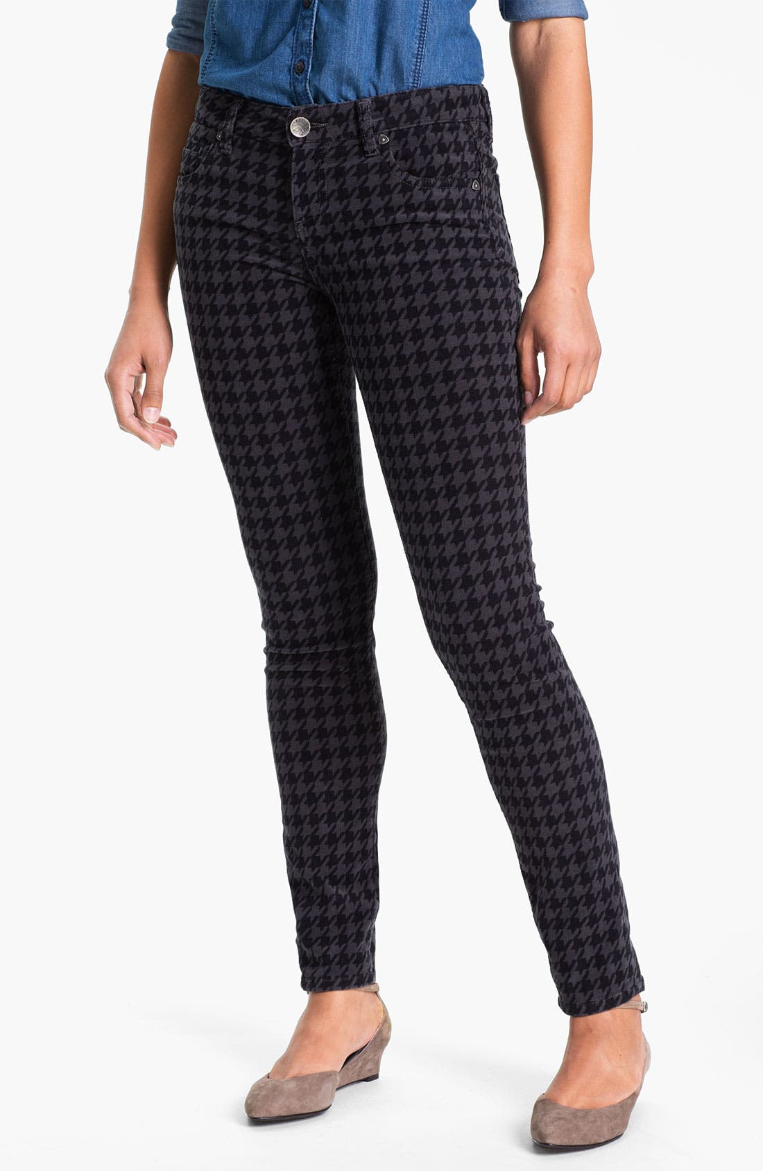 Alternate Image 1 Selected - KUT from the Kloth Houndstooth Corduroy Pants