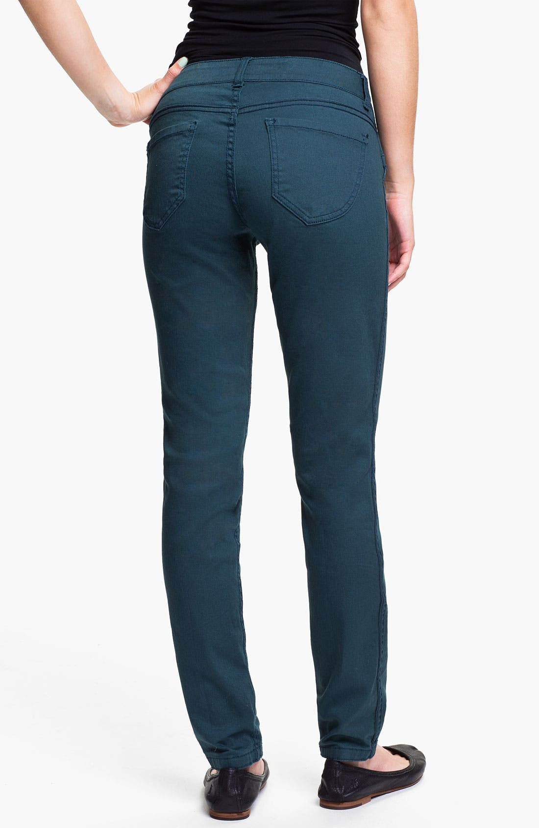 Alternate Image 1 Selected - Jolt Reversible Skinny Jeans (Juniors)
