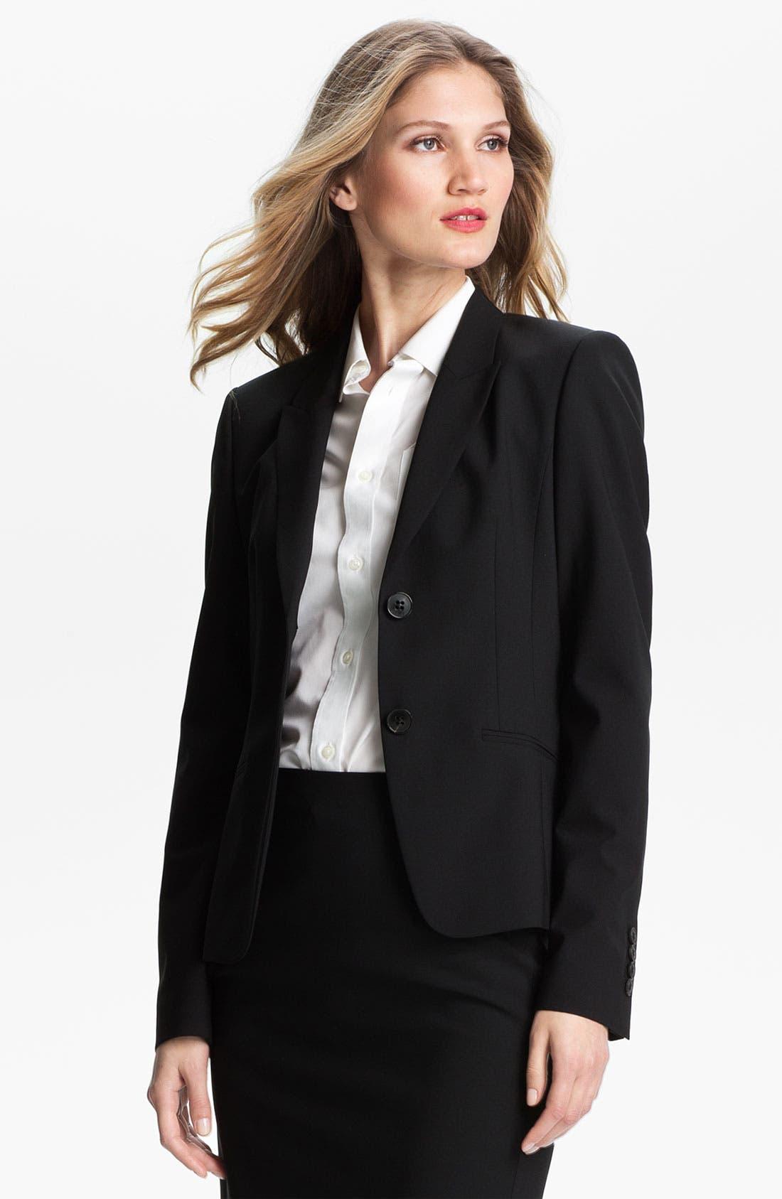 Main Image - BOSS Stretch Wool Jacket