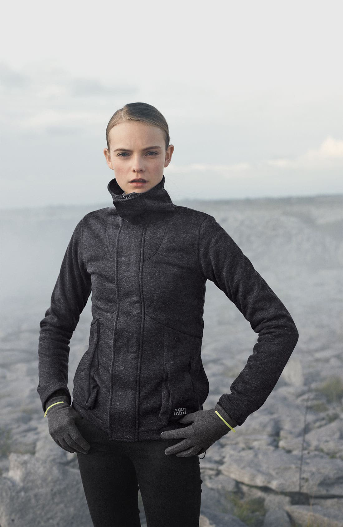 Alternate Image 1 Selected - Helly Hansen Jacket & Paige Jeans