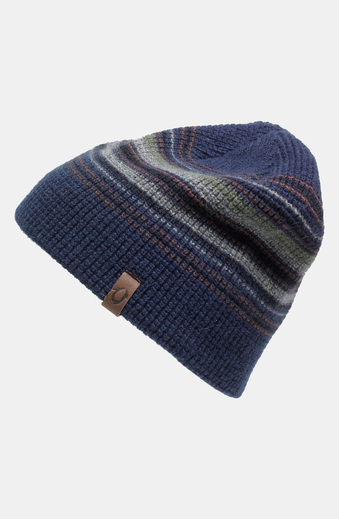 Alternate Image 1 Selected - True Religion Brand Jeans Stripe Waffle Knit Cap
