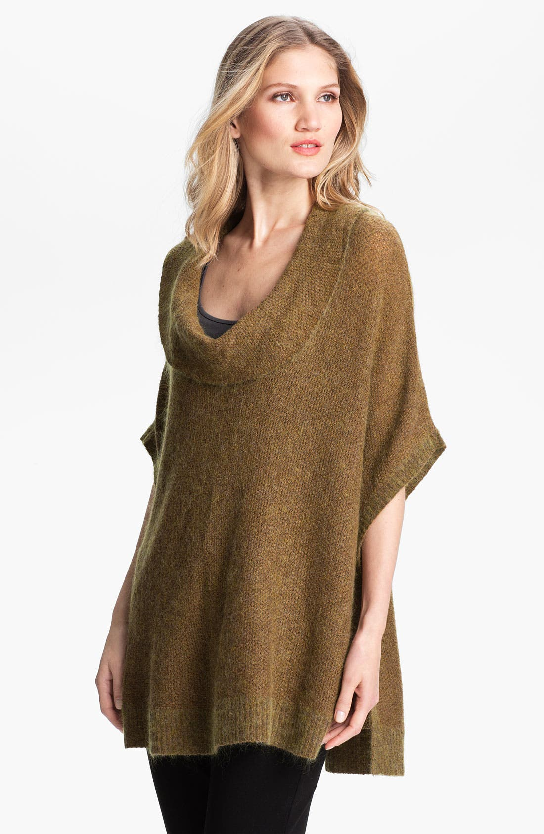 Main Image - Eileen Fisher Cowl Neck Web Knit Sweater