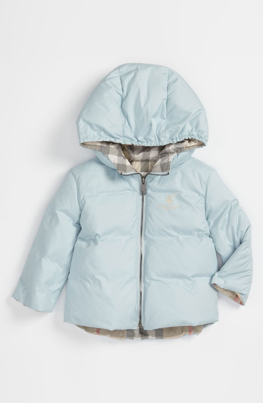 Main Image - Burberry Down Filled Puffer Jacket (Infant)