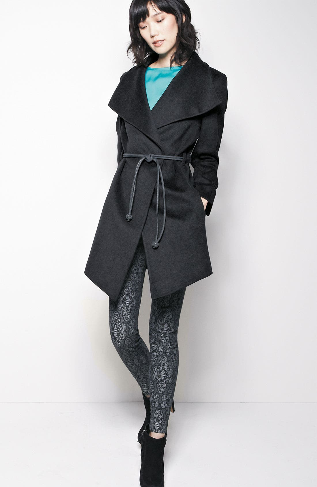 Alternate Image 5  - Trilogy by Fleurette Wool Wrap Coat