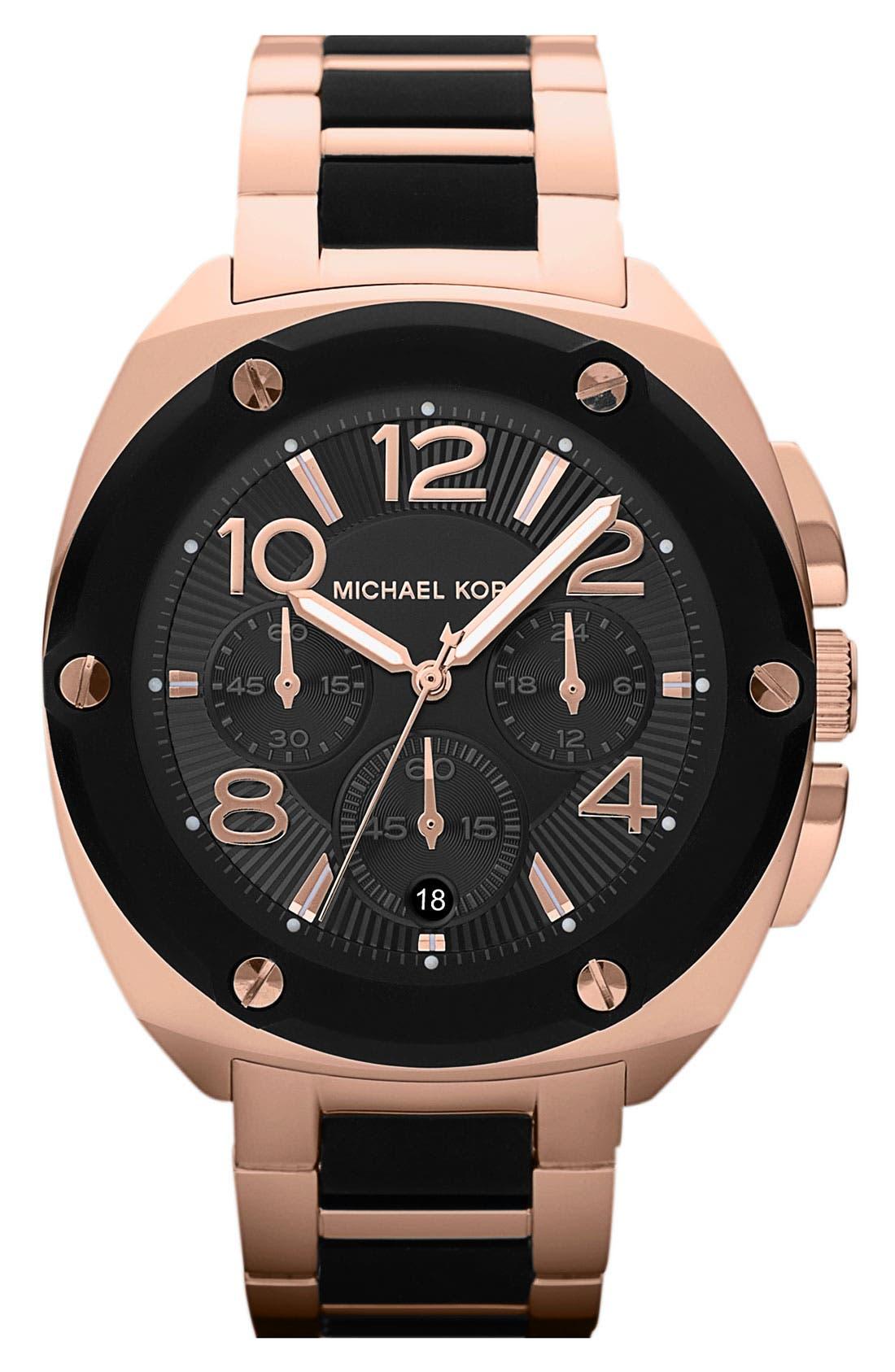Alternate Image 1 Selected - Michael Kors 'Tribeca' Chronograph Bracelet Watch, 43mm